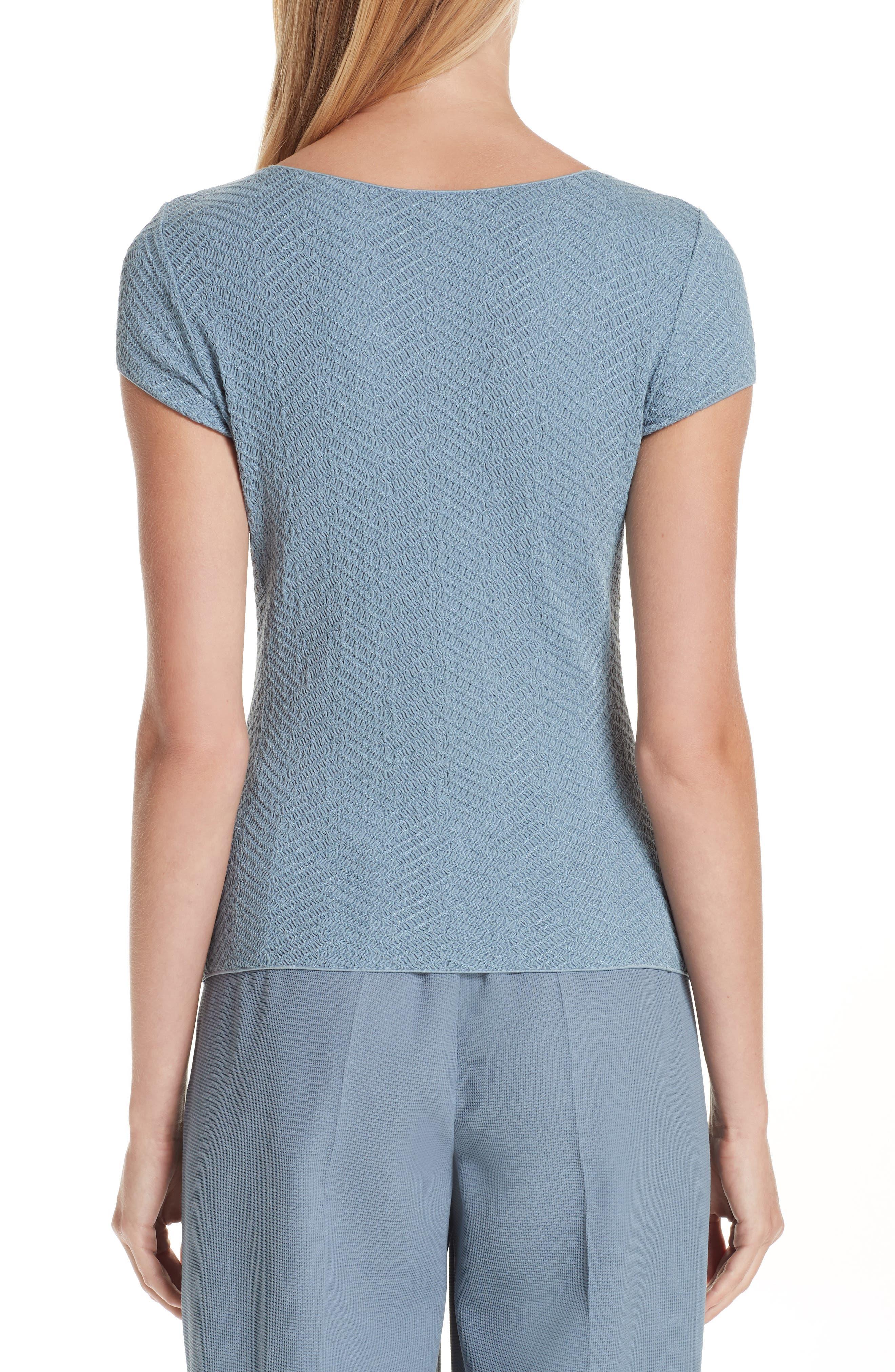 Short Sleeve Jersey Tee,                             Alternate thumbnail 2, color,                             STONE BLUE