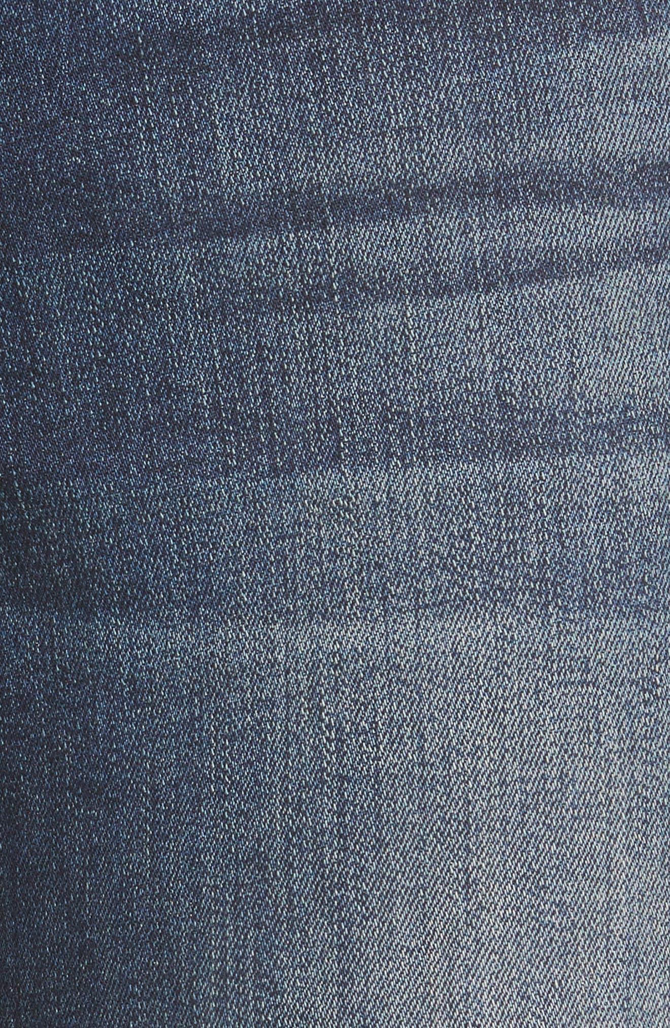 Taylor Ripped Eyelet Straight Leg Jeans,                             Alternate thumbnail 5, color,                             400