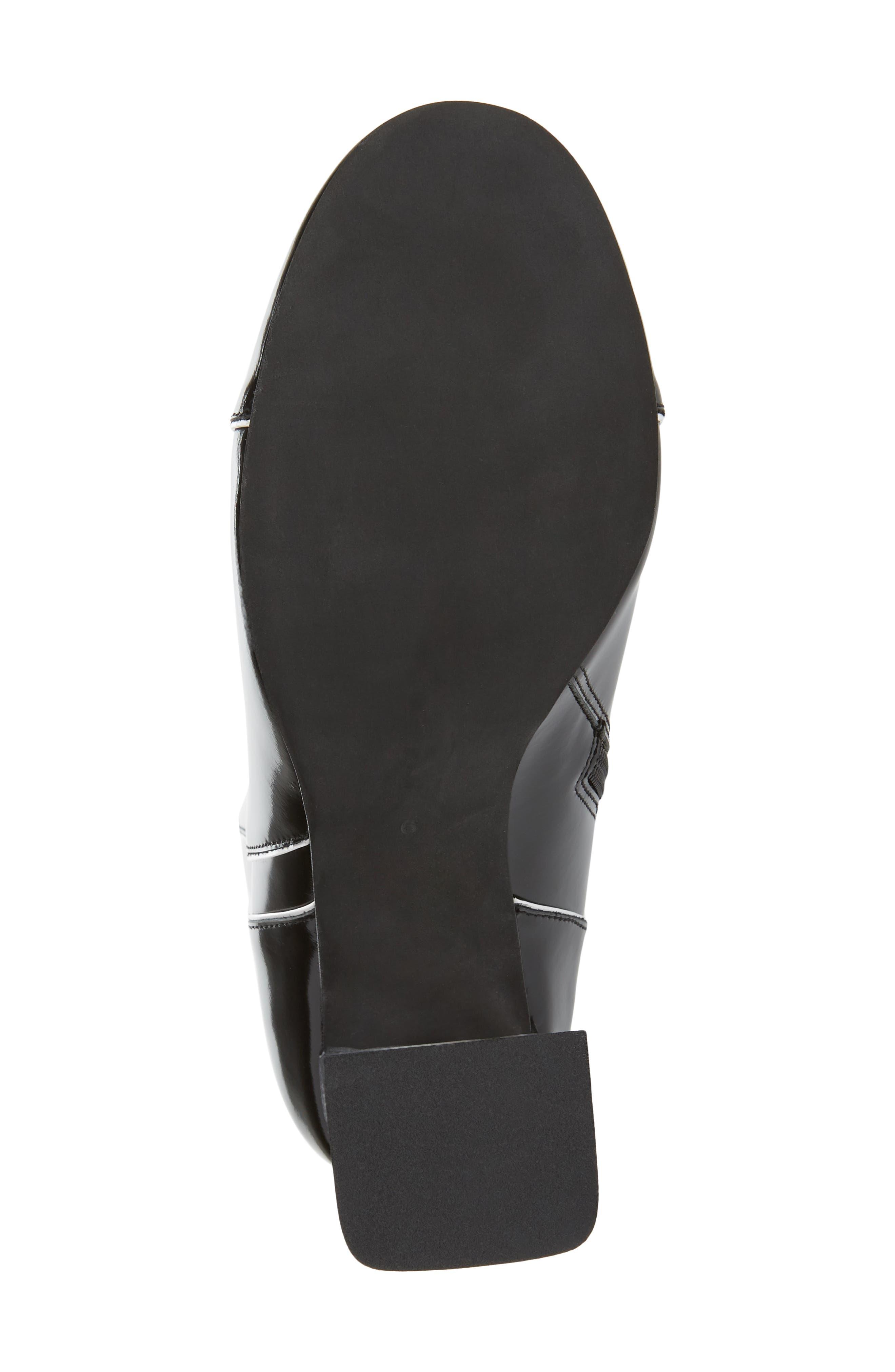 Chapel Translucent Heel Bootie,                             Alternate thumbnail 6, color,                             BLACK COMBO-CLEAR HEEL