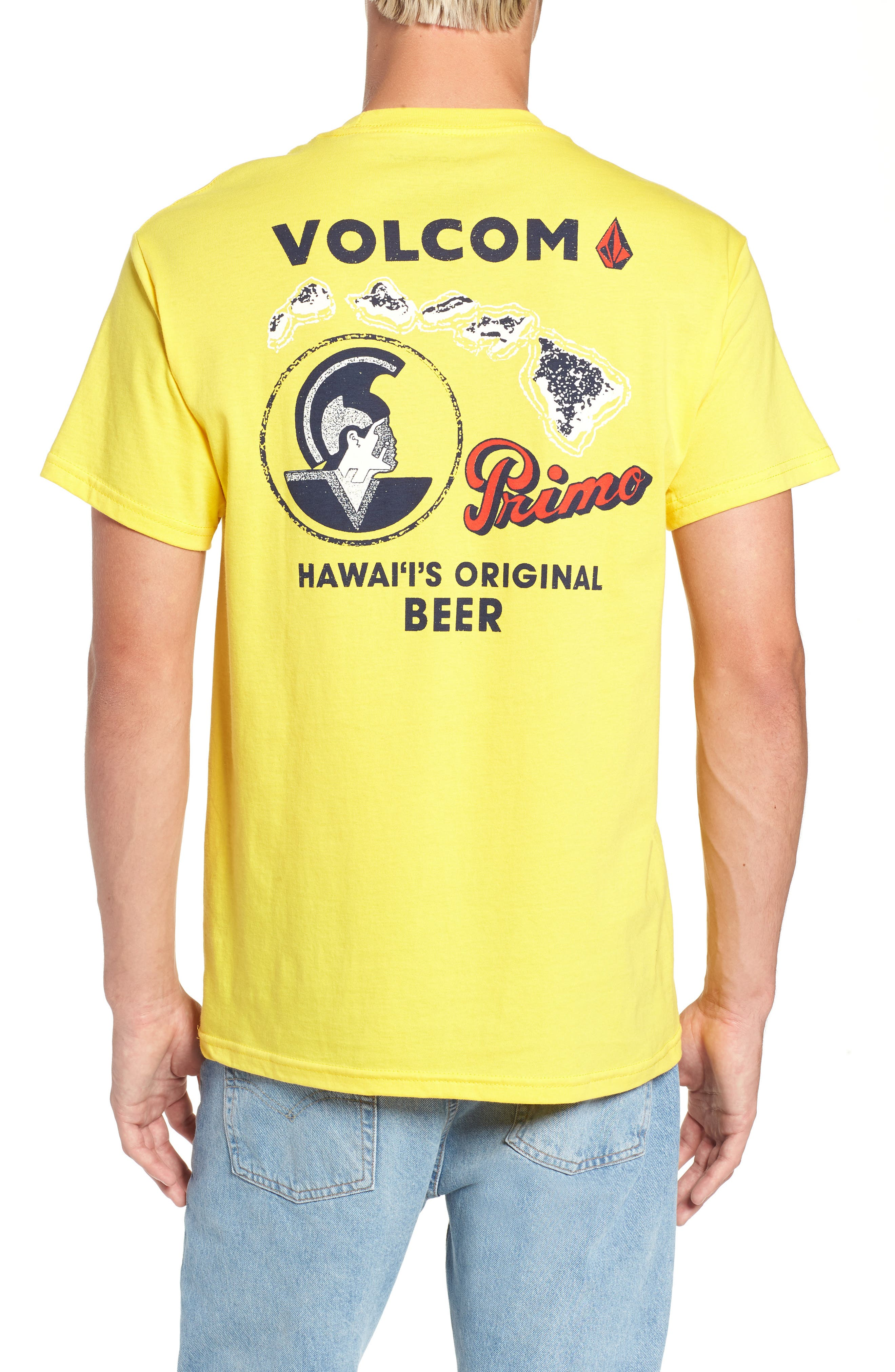 Primo Island T-Shirt,                             Alternate thumbnail 2, color,                             CYBER YELLOW