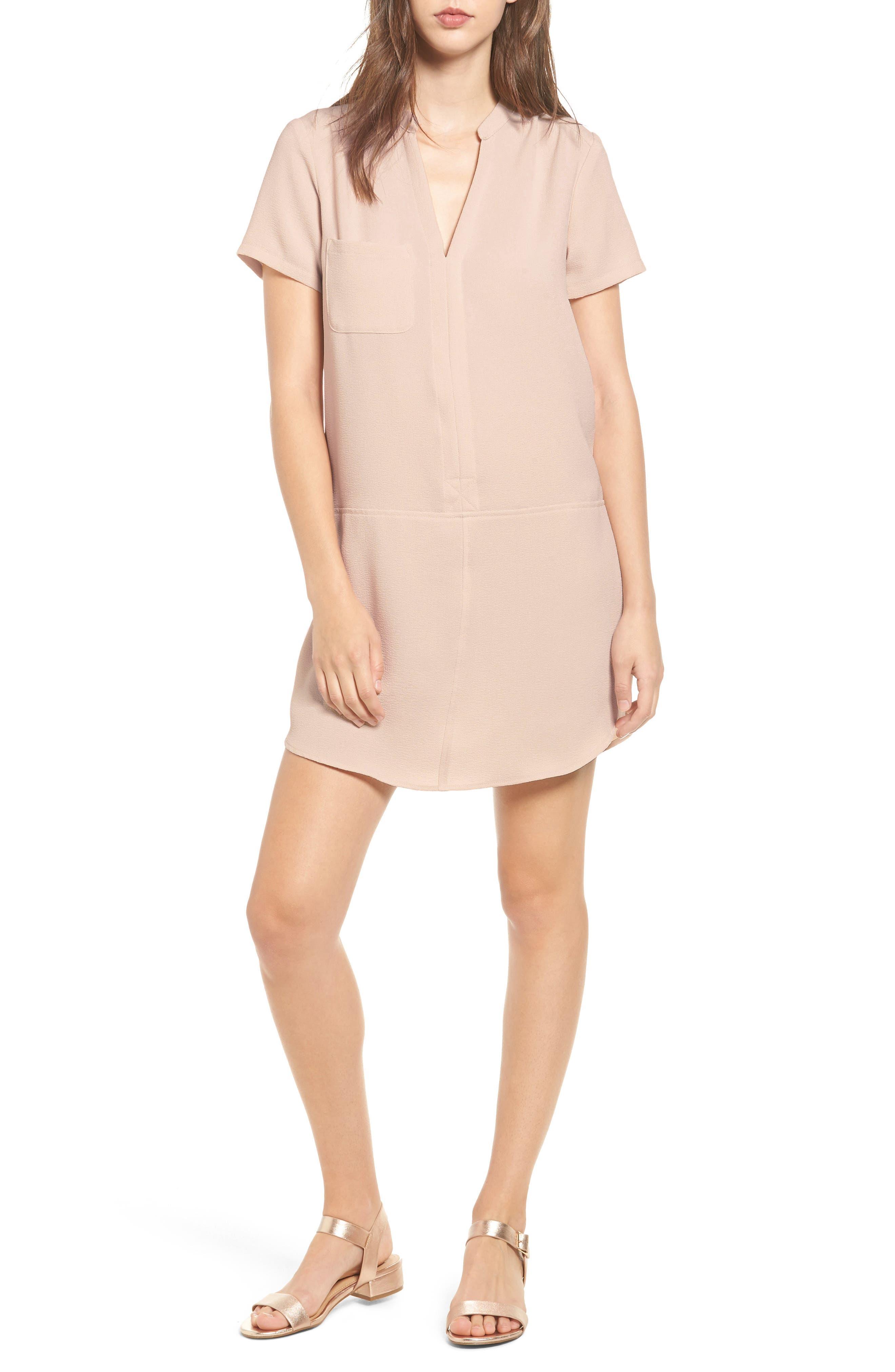 Hailey Crepe Dress,                             Main thumbnail 5, color,