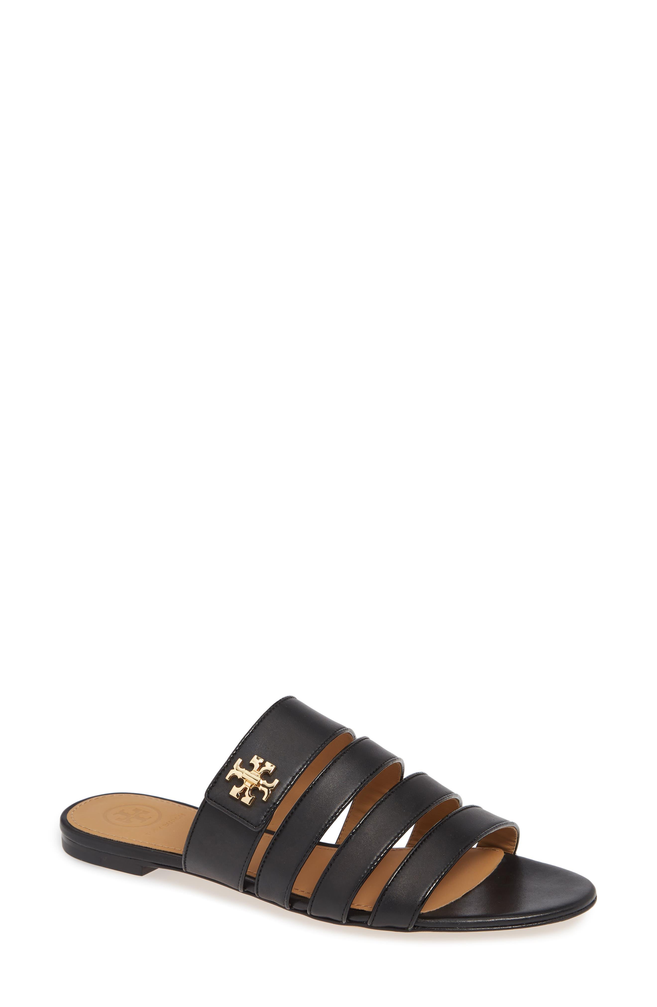 Tory Burch Kira Strappy Slide Sandal- Black