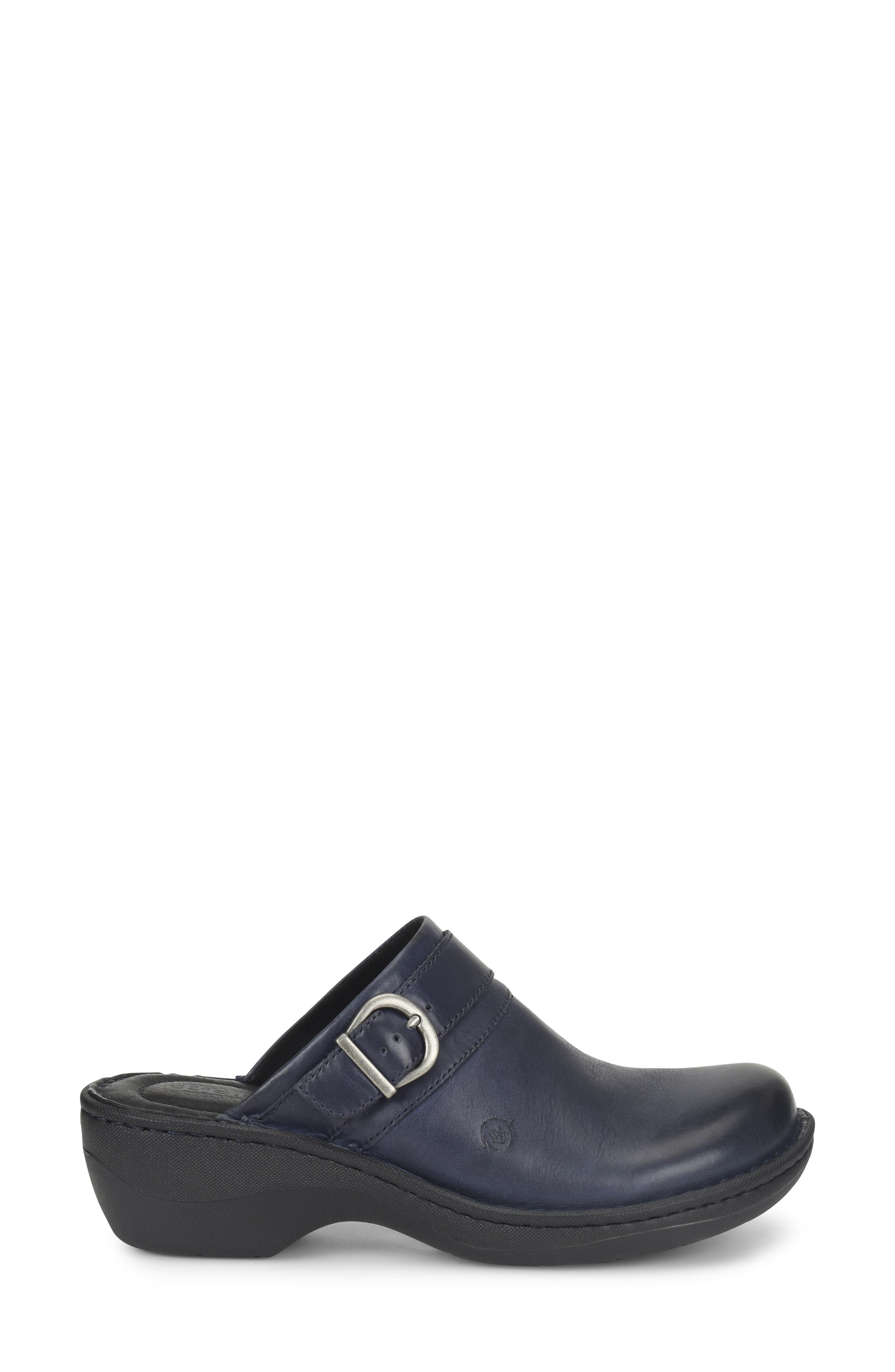 Avoca Clog,                             Alternate thumbnail 3, color,                             NAVY LEATHER