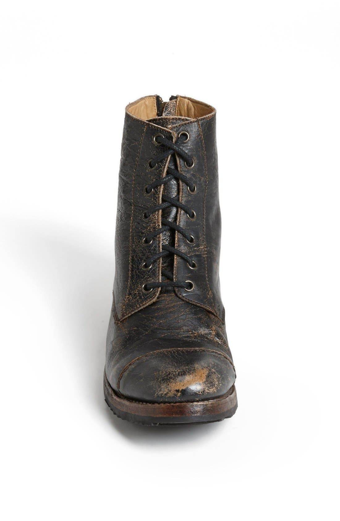 'Protégé' Cap Toe Boot,                             Alternate thumbnail 2, color,                             001