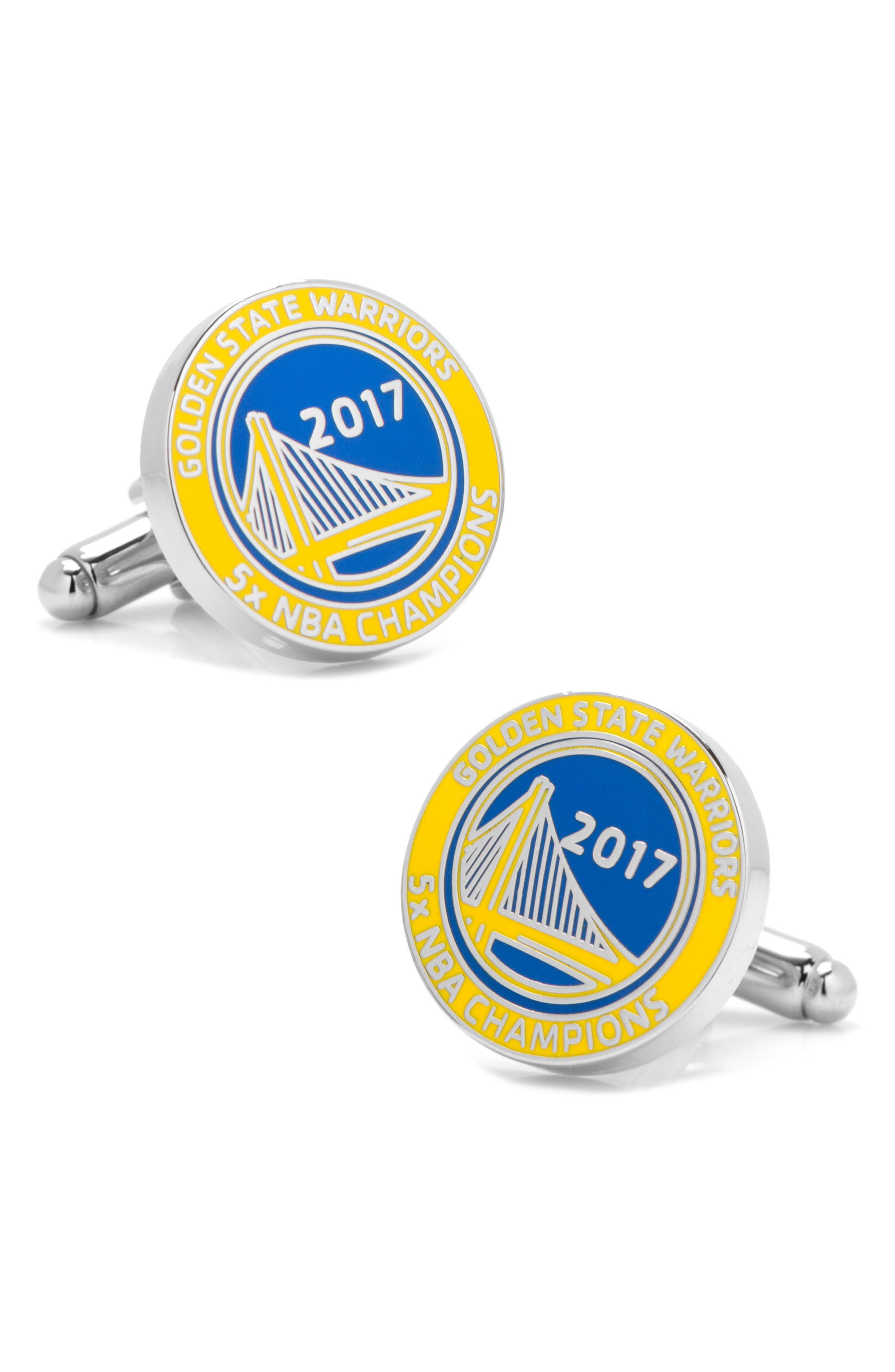 Golden State Warriors Cuff Links,                             Main thumbnail 1, color,                             400