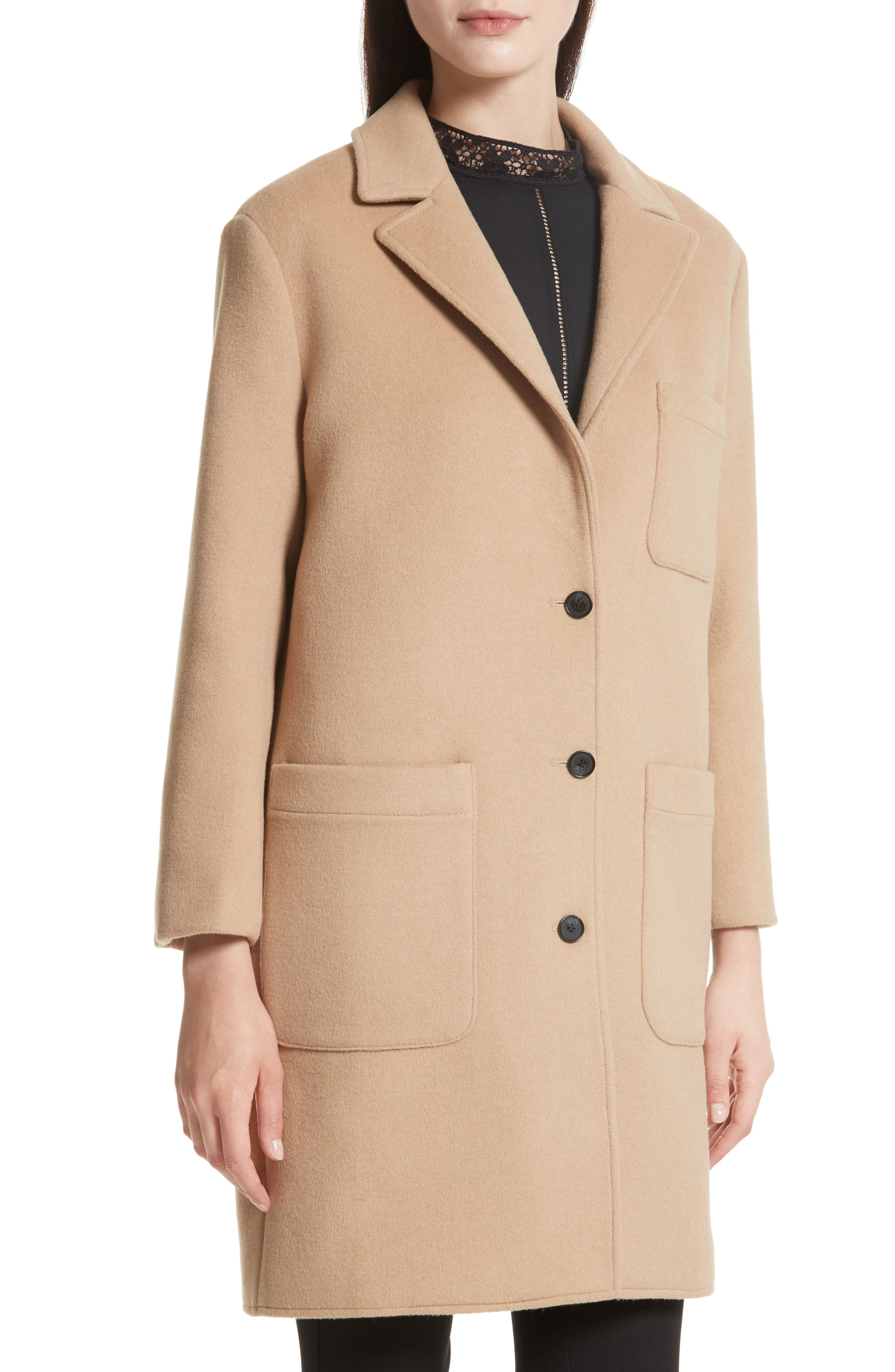 Allegra Wool Blend Coat,                             Alternate thumbnail 4, color,                             232