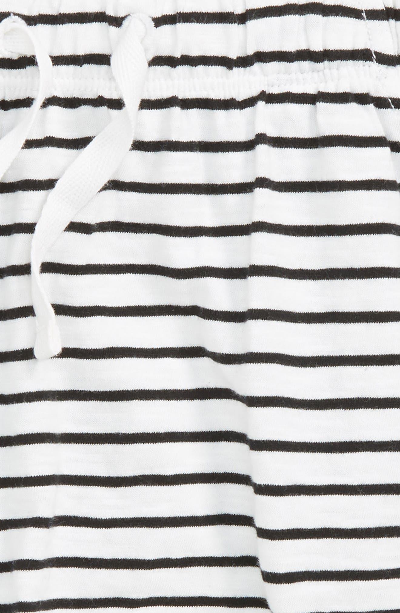 Stripe Knit Shorts,                             Alternate thumbnail 2, color,                             100