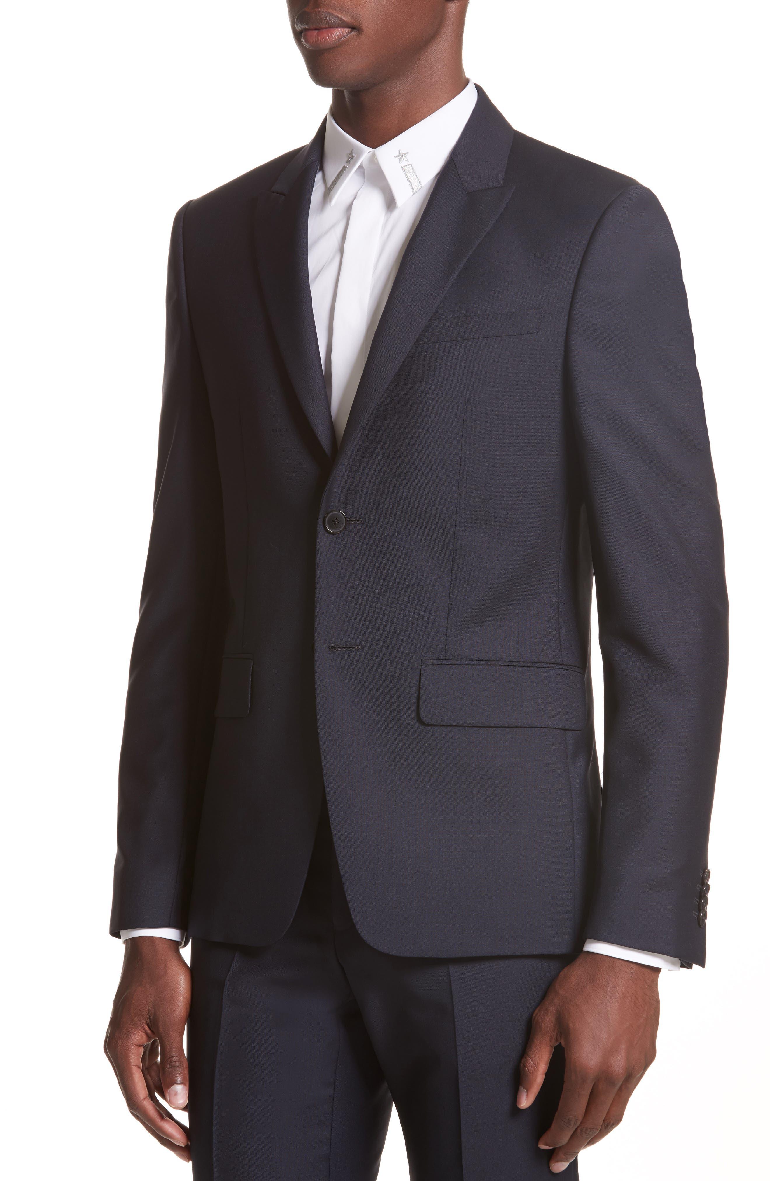 Wool & Mohair Suit,                             Alternate thumbnail 4, color,                             403