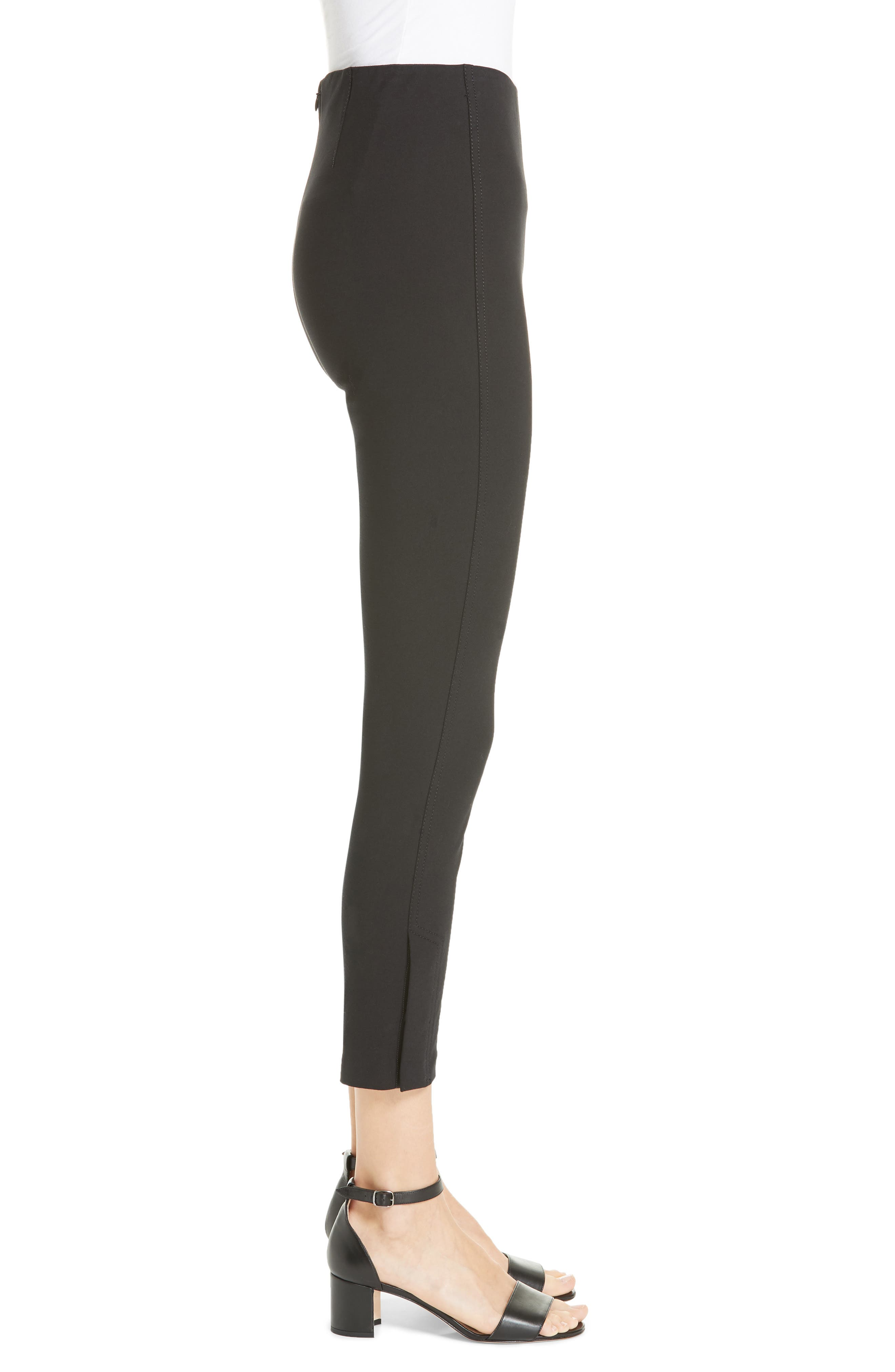 DEREK LAM 10 CROSBY,                             Sullivan Leggings,                             Alternate thumbnail 3, color,                             BLACK