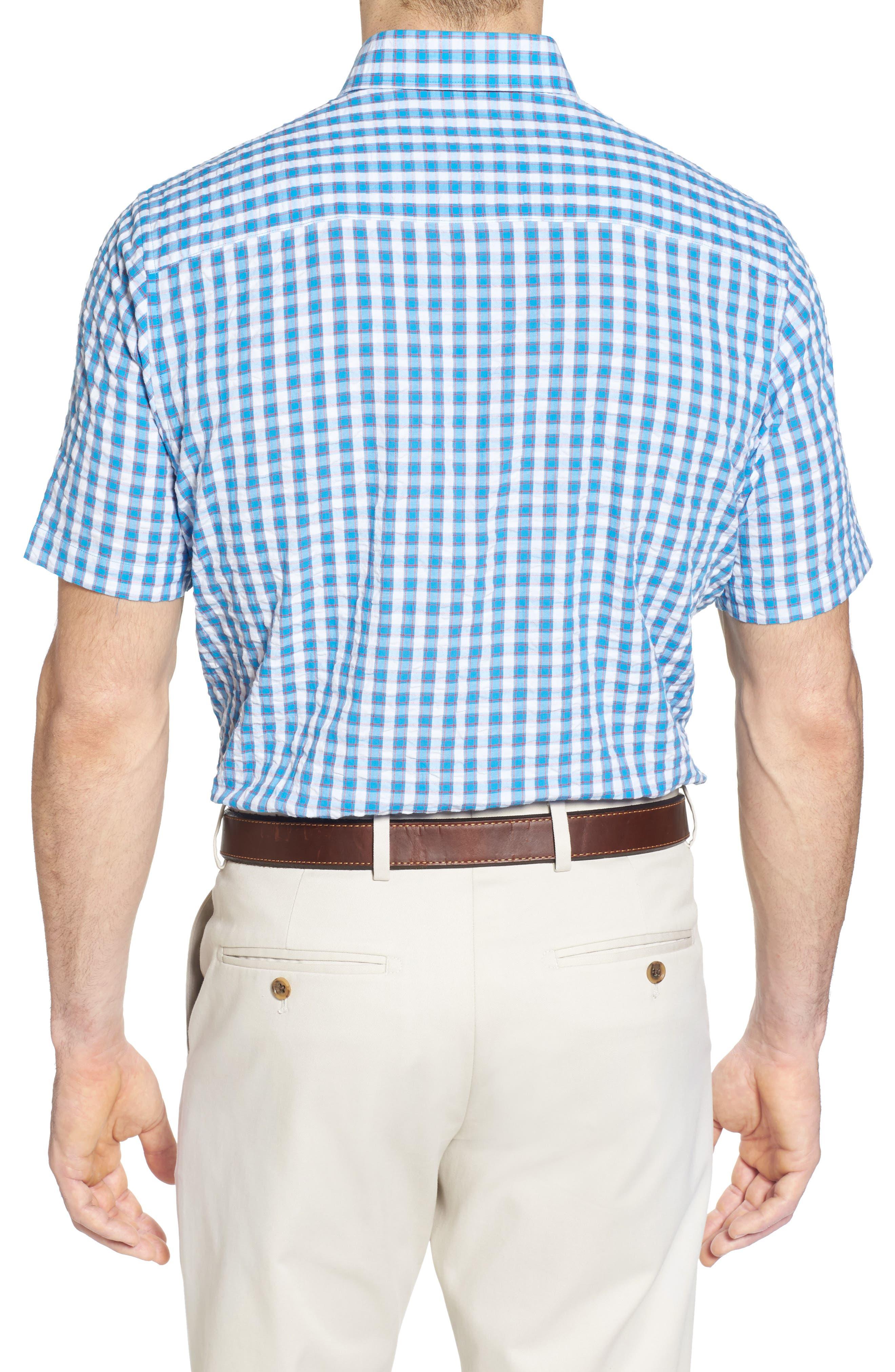 Tyler Classic Fit Seersucker Sport Shirt,                             Alternate thumbnail 4, color,