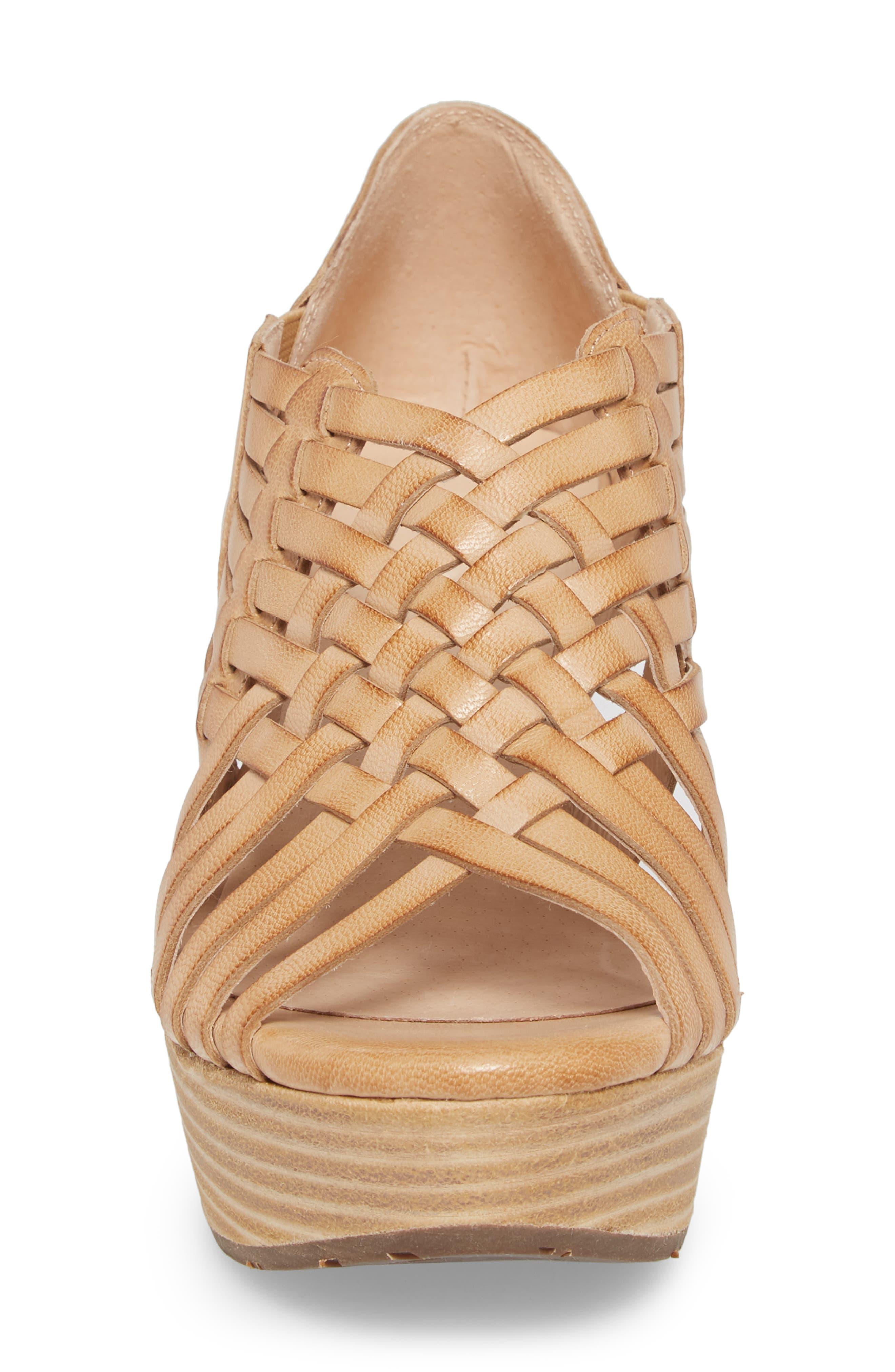 Woody Wedge Sandal,                             Alternate thumbnail 4, color,