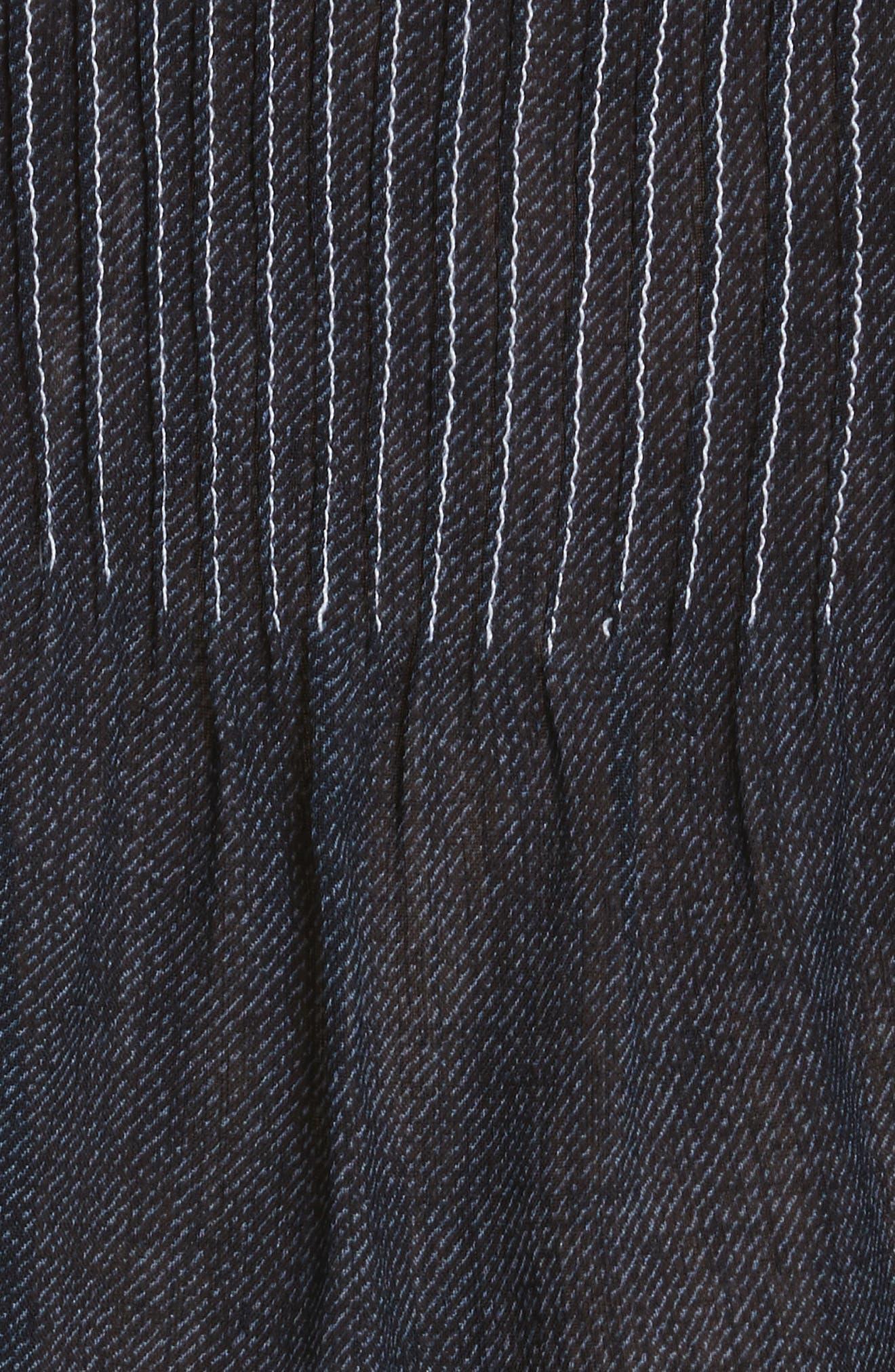 Diane von Furstenberg Pintuck Crop Blouse,                             Alternate thumbnail 5, color,