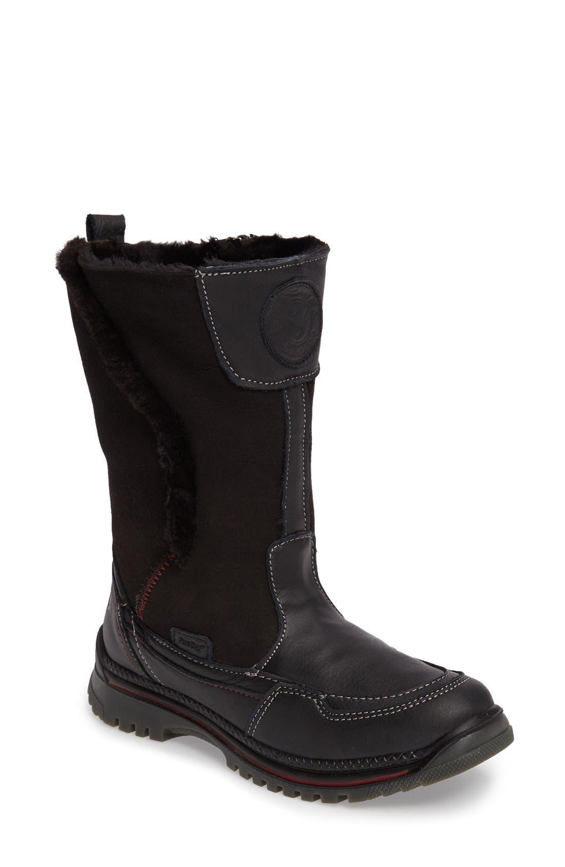 Seraphine Genuine Shearling Waterproof Winter Boot,                             Main thumbnail 1, color,                             001