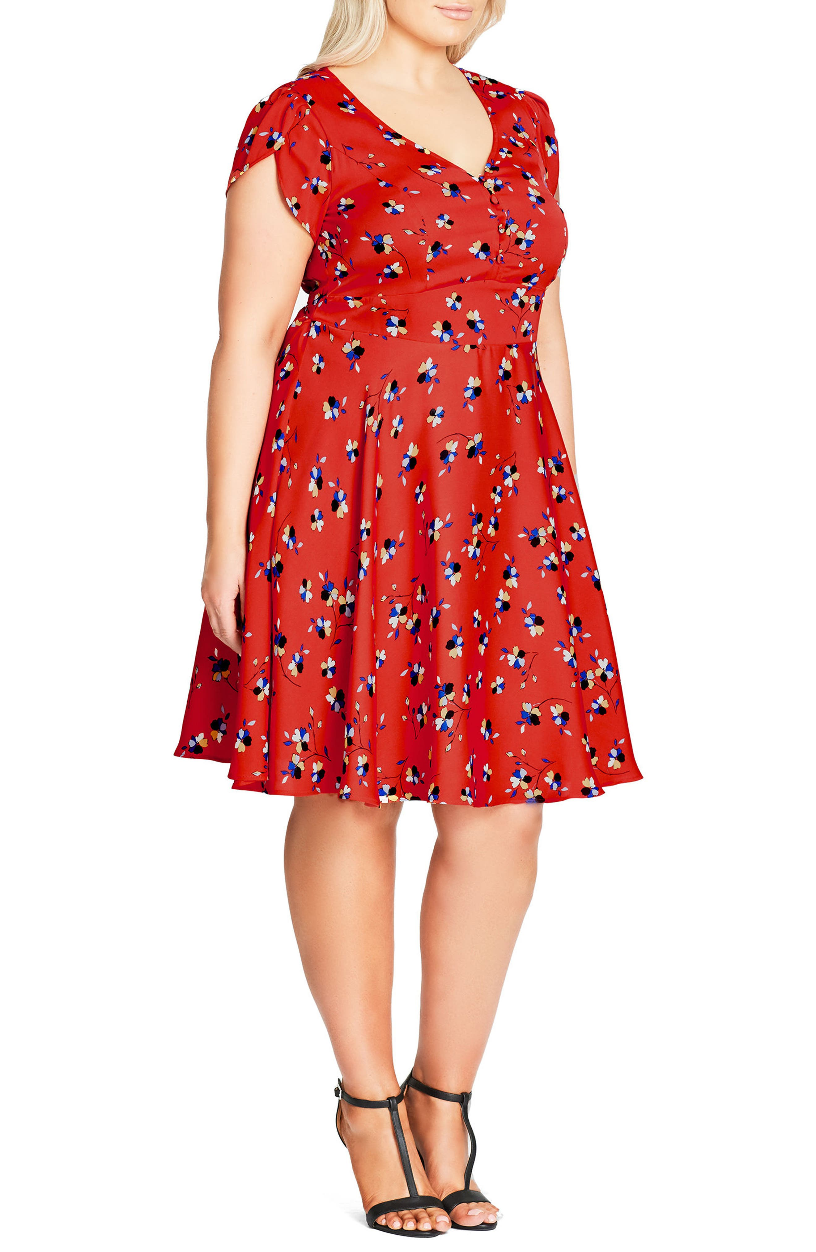 Cutie Pie Fit & Flare Dress,                             Alternate thumbnail 2, color,                             600