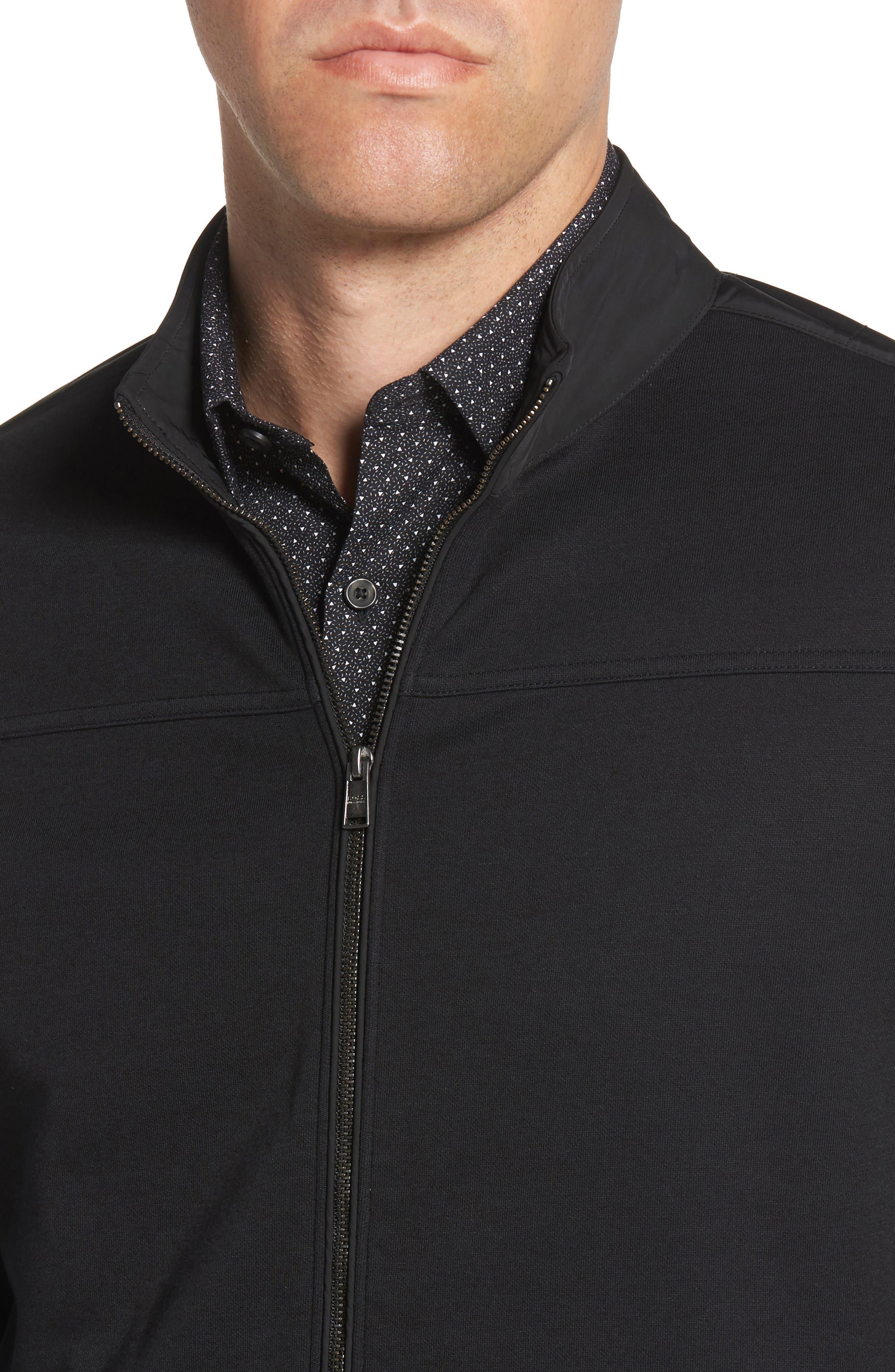 Soule Slim Fit Moto Jacket,                             Alternate thumbnail 4, color,                             BLACK