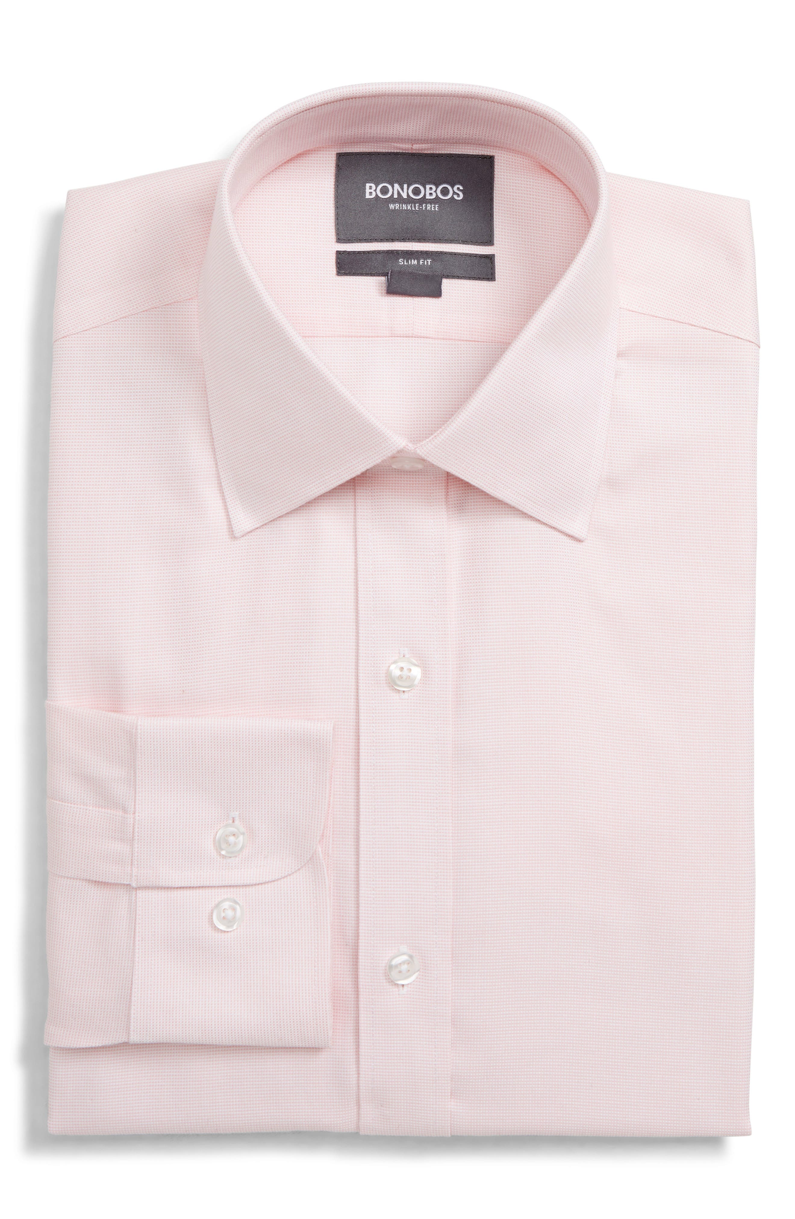 Bonobos Daily Grind Slim Fit Solid Dress Shirt, Pink