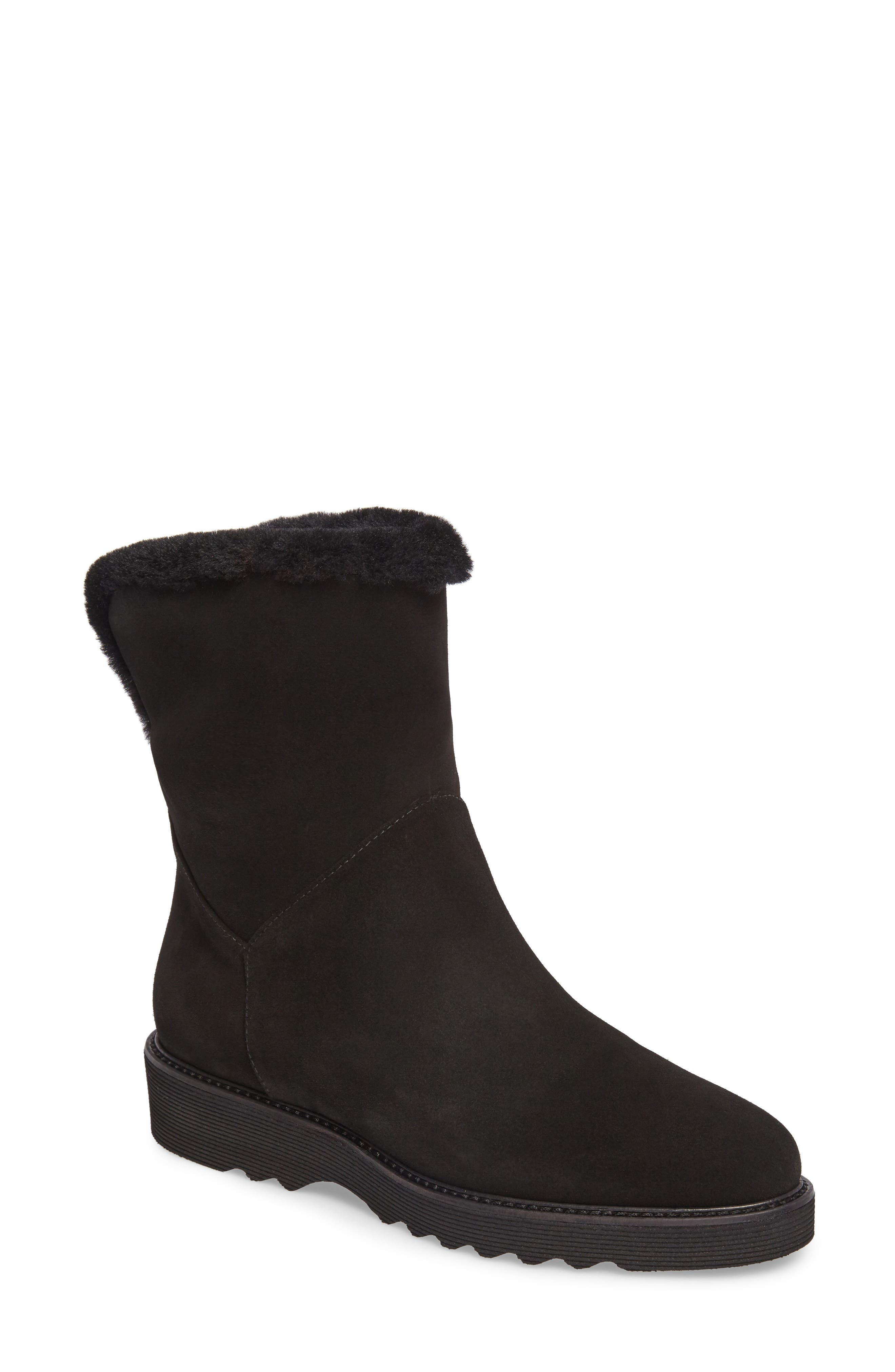 Kimberly Weatherproof Genuine Shearling Bootie,                             Main thumbnail 1, color,