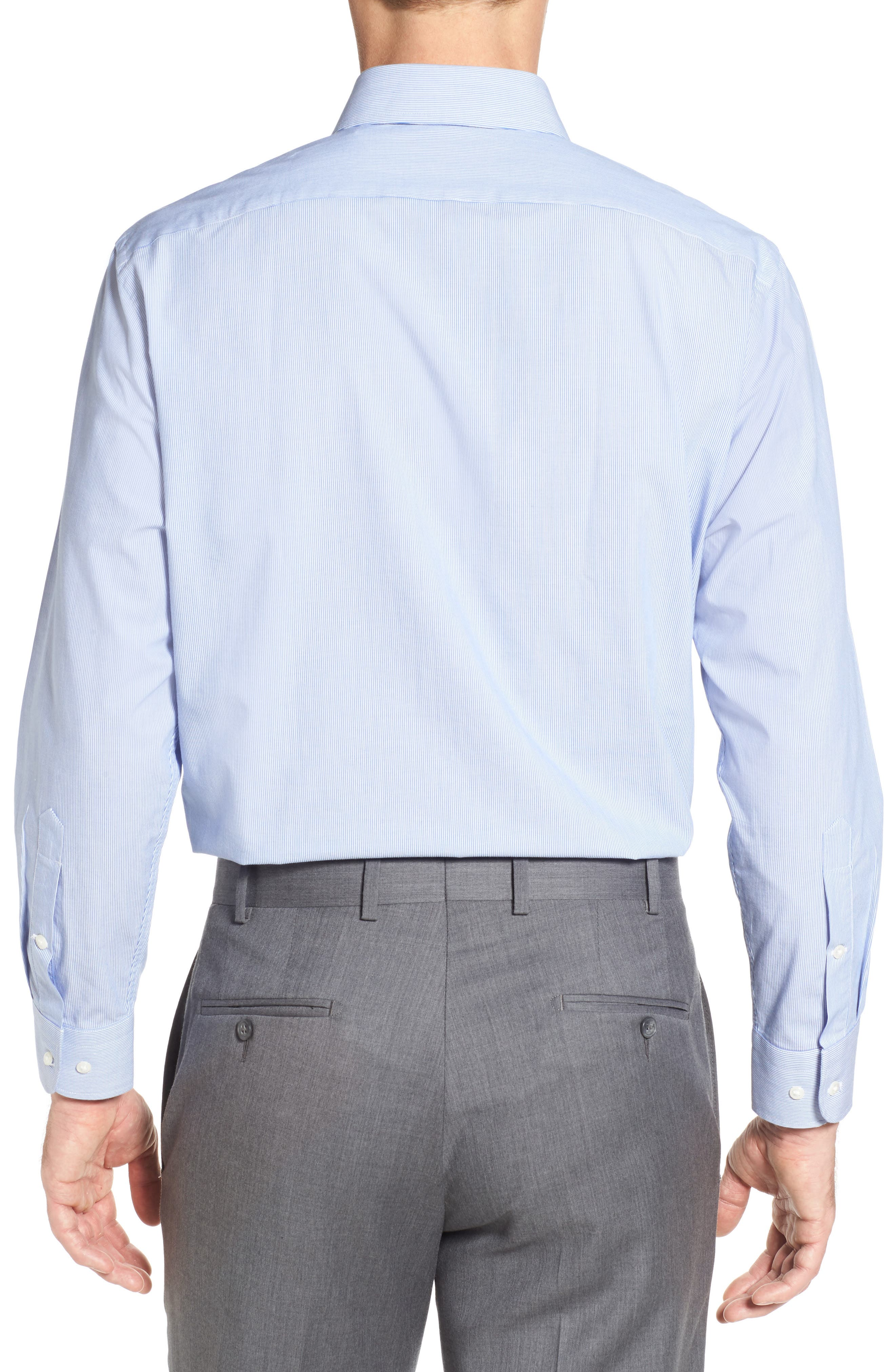 Tech-Smart Traditional Fit Stretch Stripe Dress Shirt,                             Alternate thumbnail 2, color,                             420