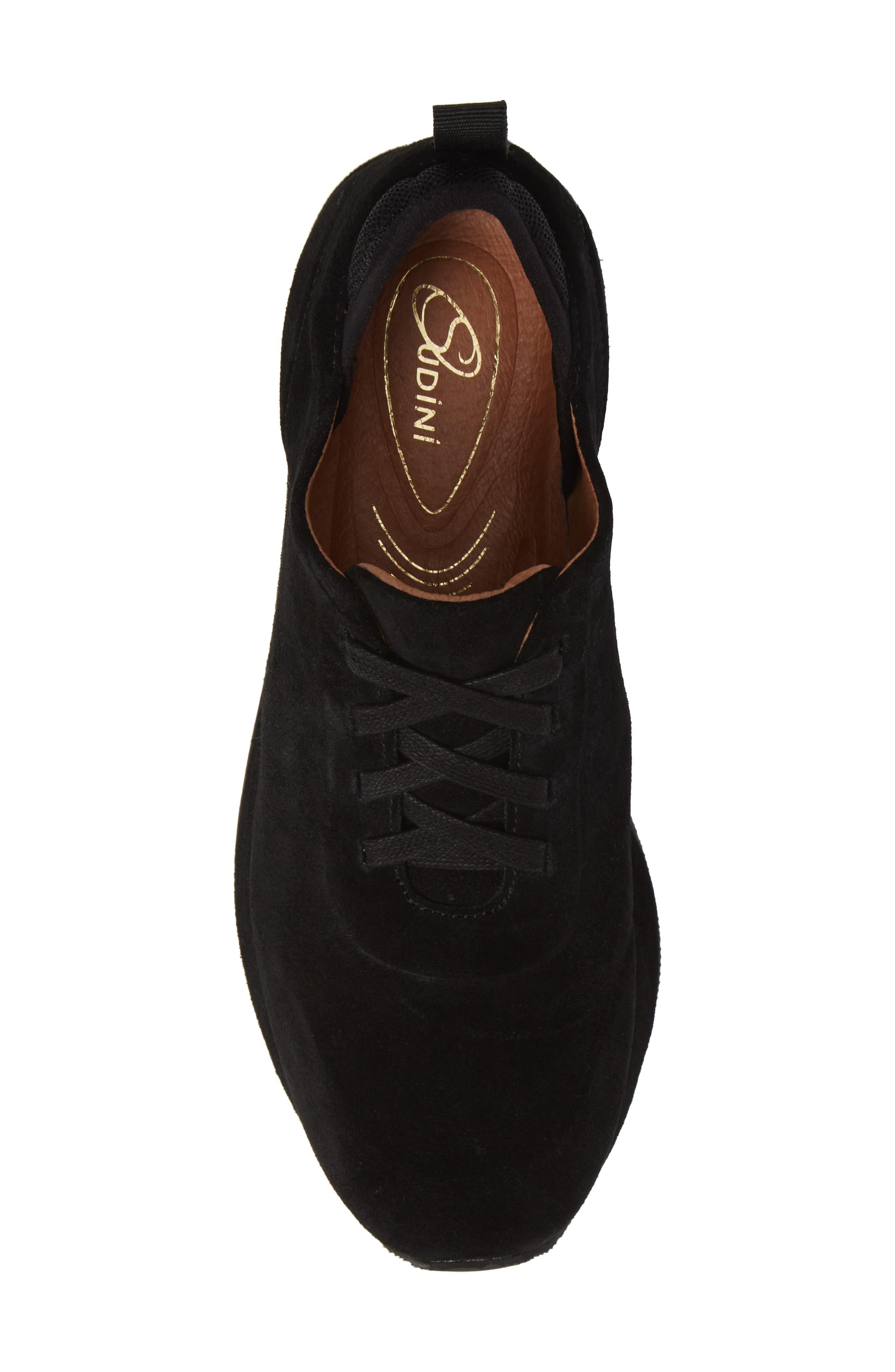 Mabel Sneaker,                             Alternate thumbnail 5, color,                             BLACK SUEDE