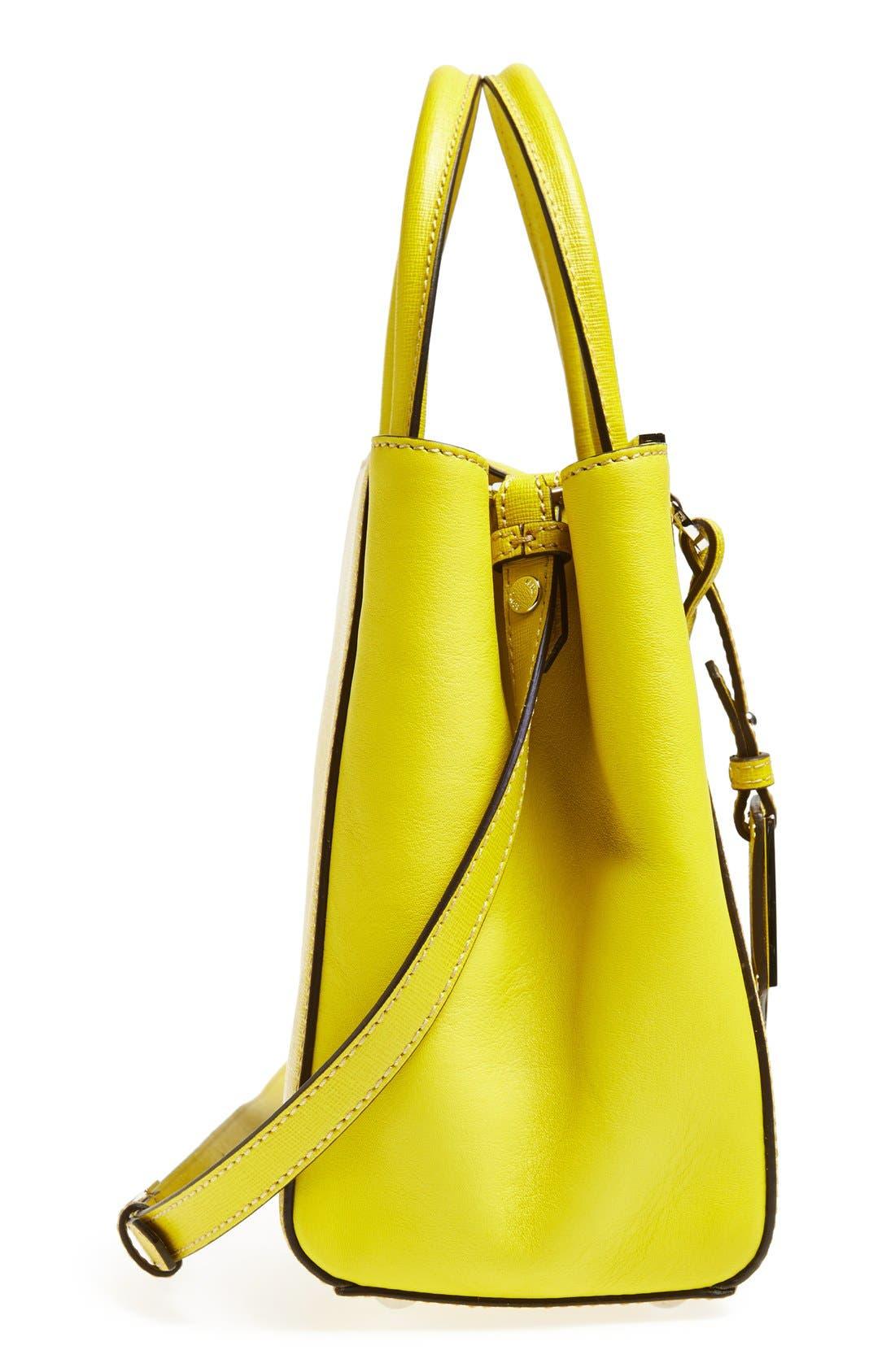 'Petite 2Jours Elite' Leather Shopper,                             Alternate thumbnail 116, color,