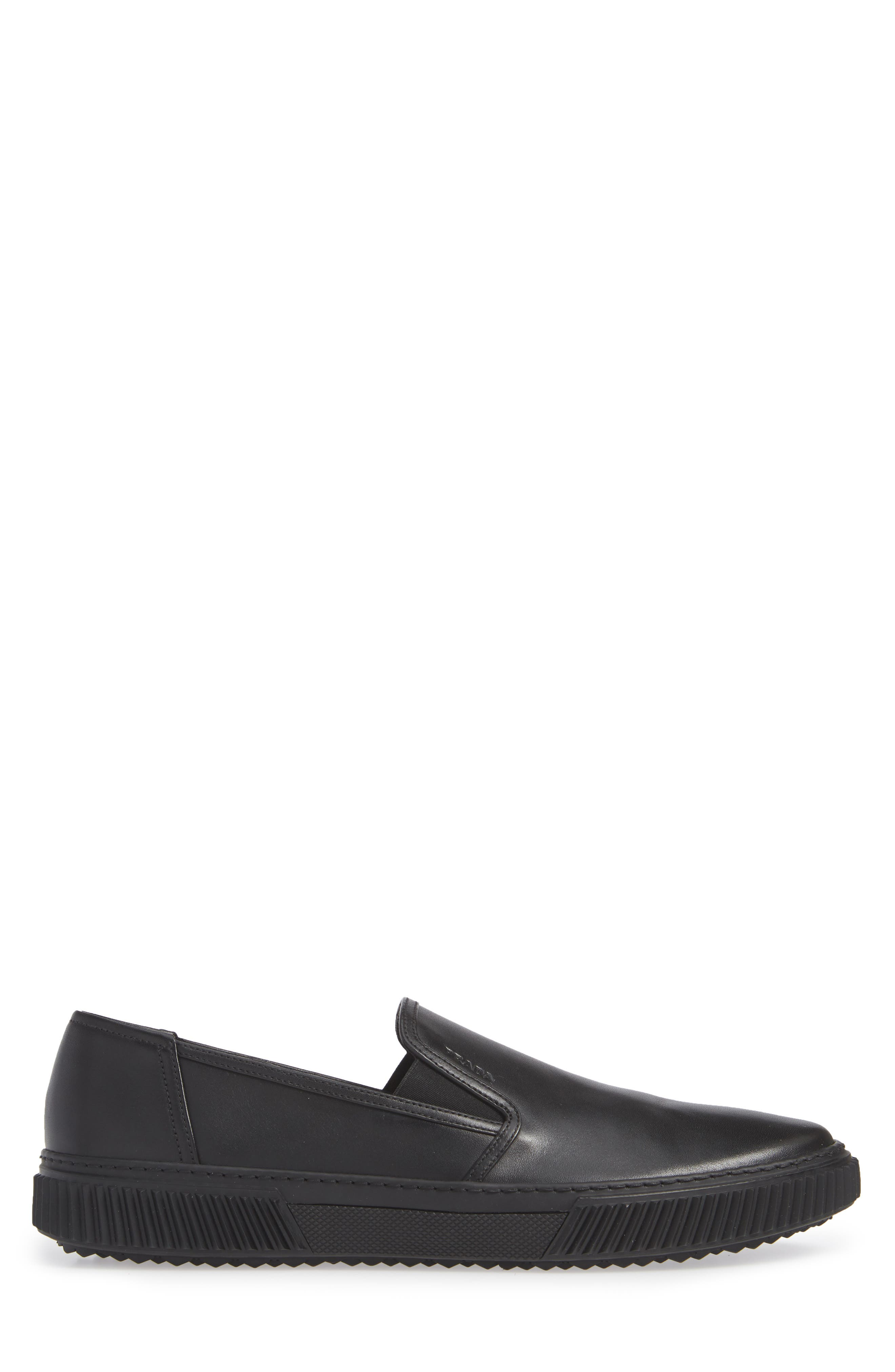 Stratus Slip-On Sneaker,                             Alternate thumbnail 3, color,                             NERO/ NERO