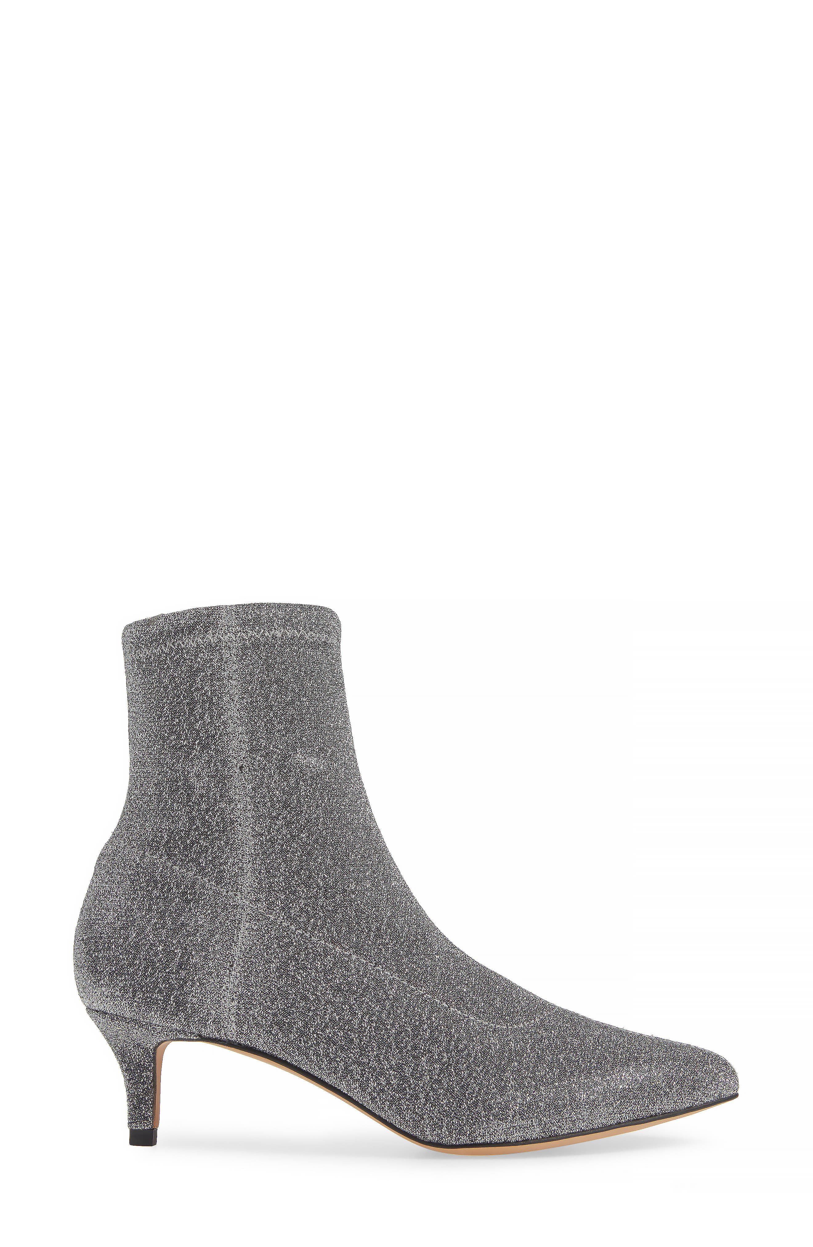 Sayres Bootie,                             Alternate thumbnail 3, color,                             SILVER FABRIC