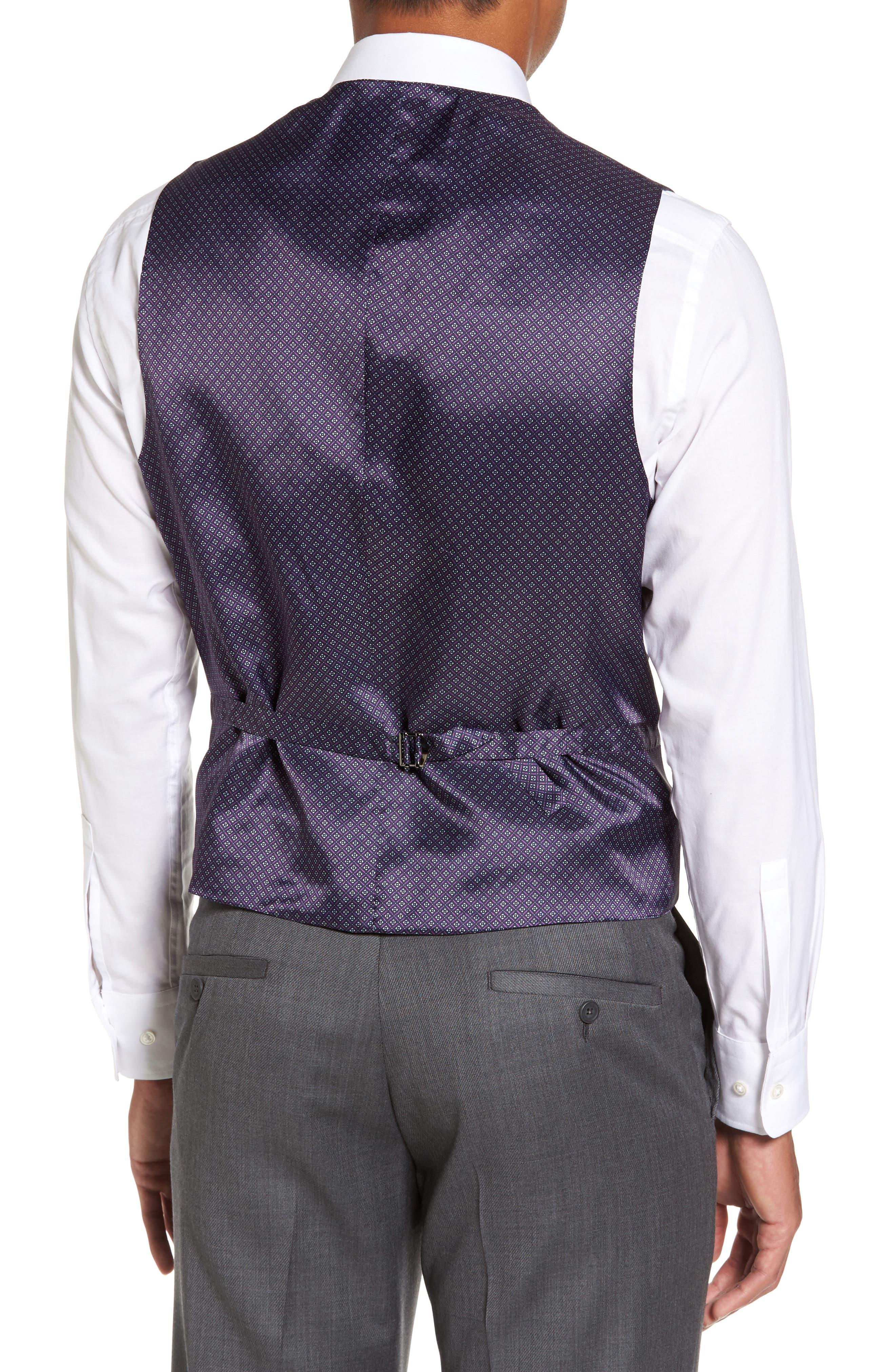 Troy Trim Fit Solid Wool Vest,                             Alternate thumbnail 2, color,                             050