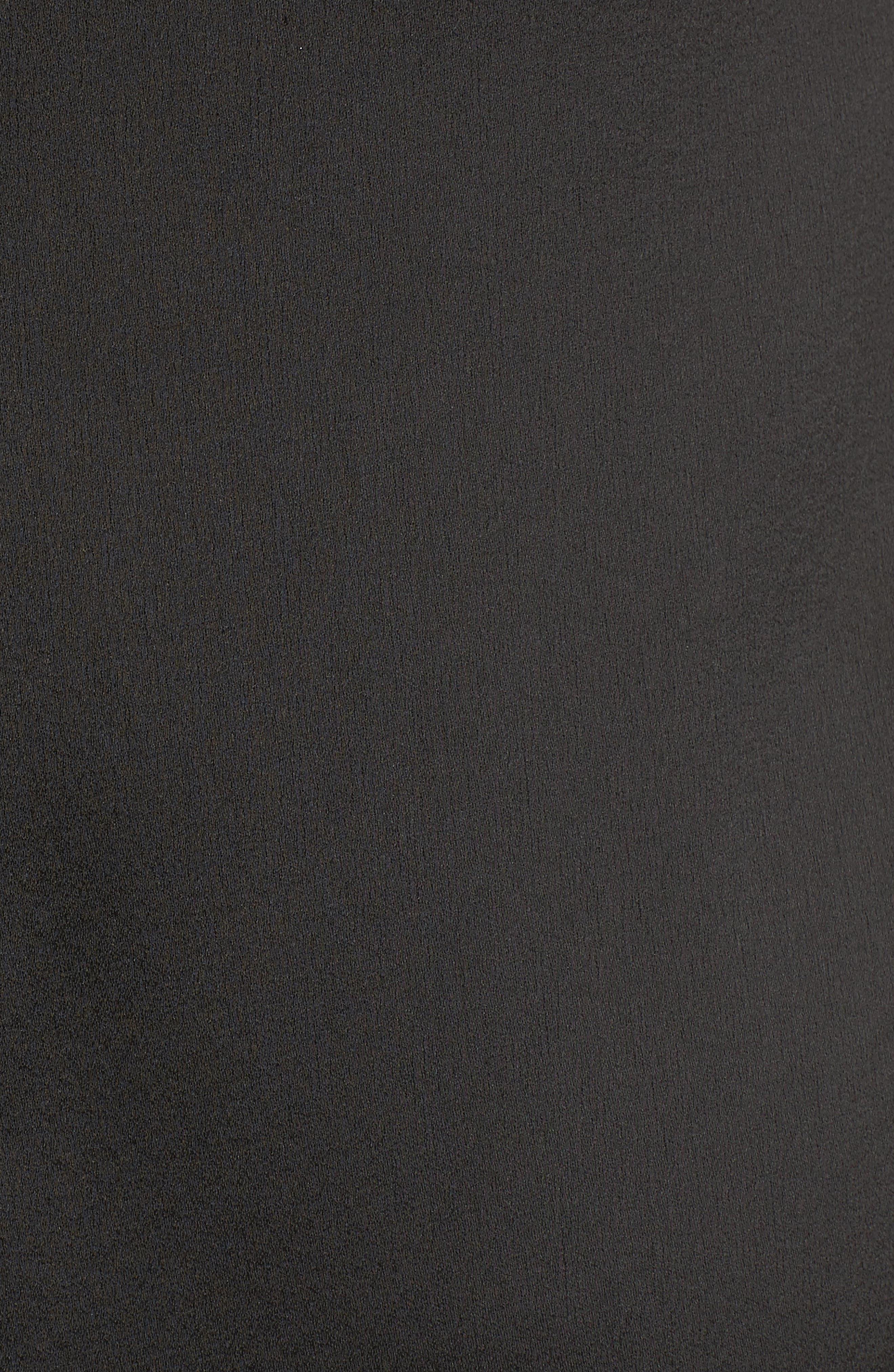 Velvet & Lace Trim Slipdress,                             Alternate thumbnail 5, color,                             001