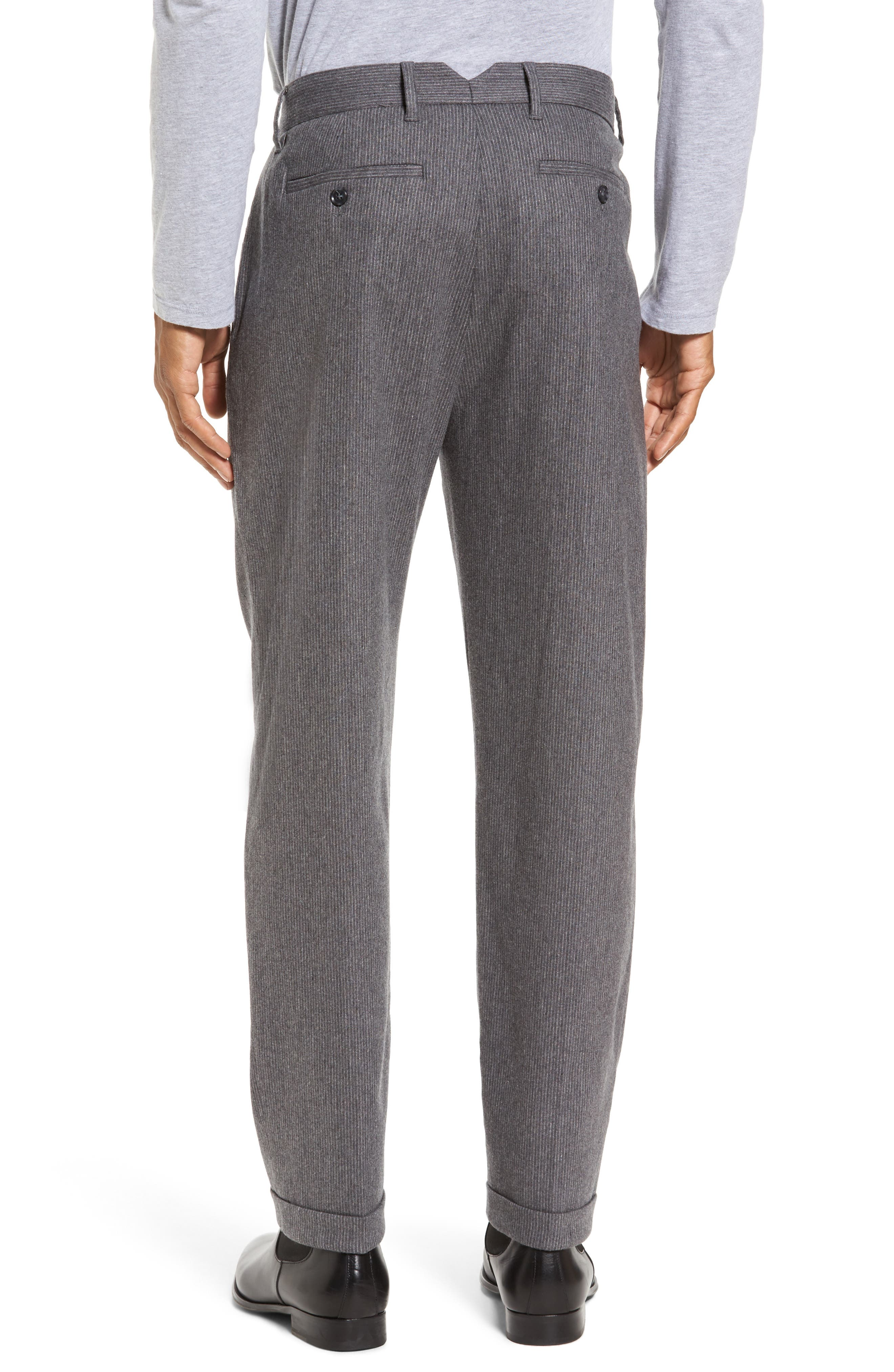 Rushmore Pinstripe Stretch Wool Blend Trousers,                             Alternate thumbnail 2, color,                             020