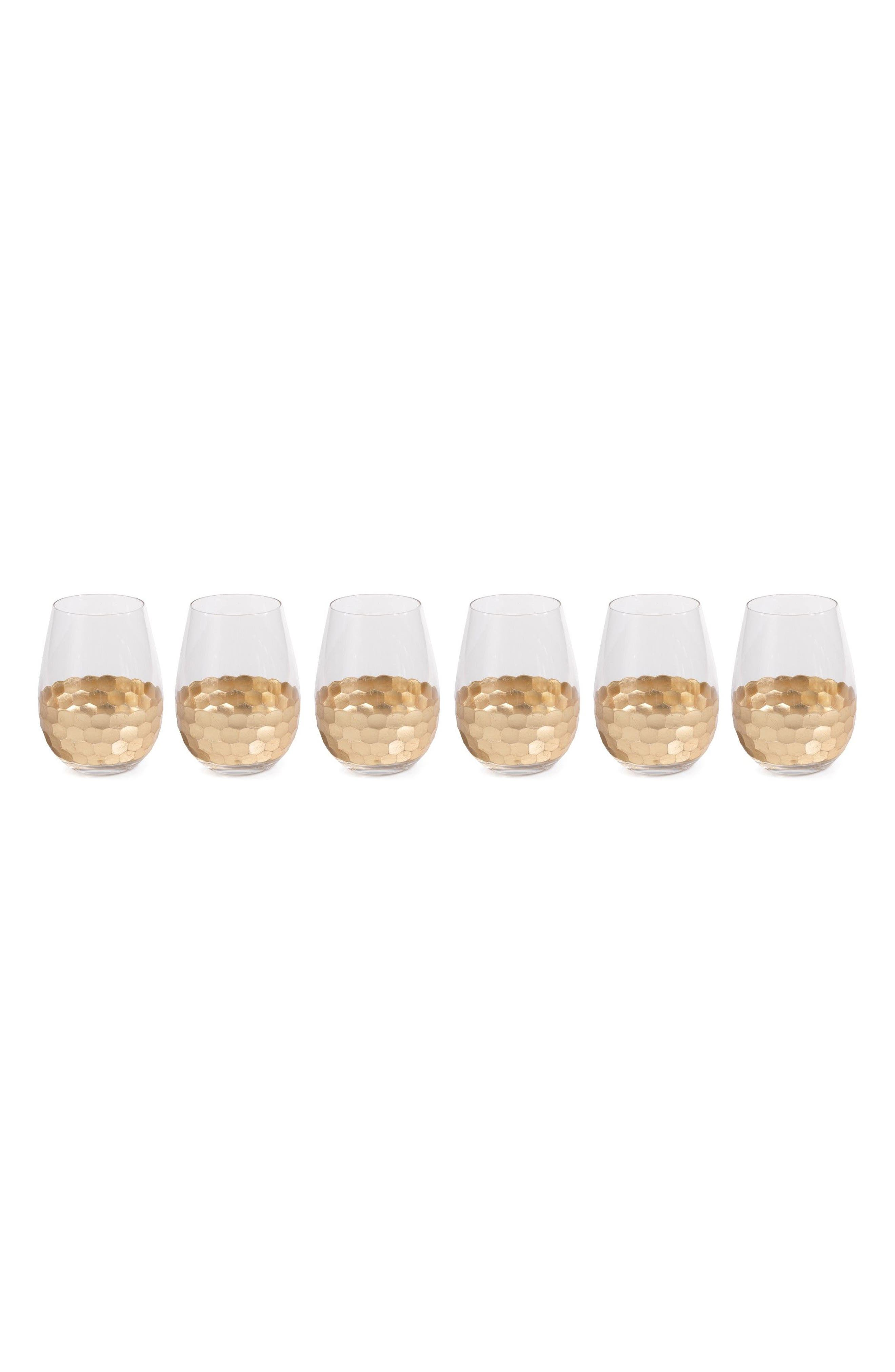Vitorrio Set of 6 Stemless Wine Glasses,                             Main thumbnail 1, color,                             040