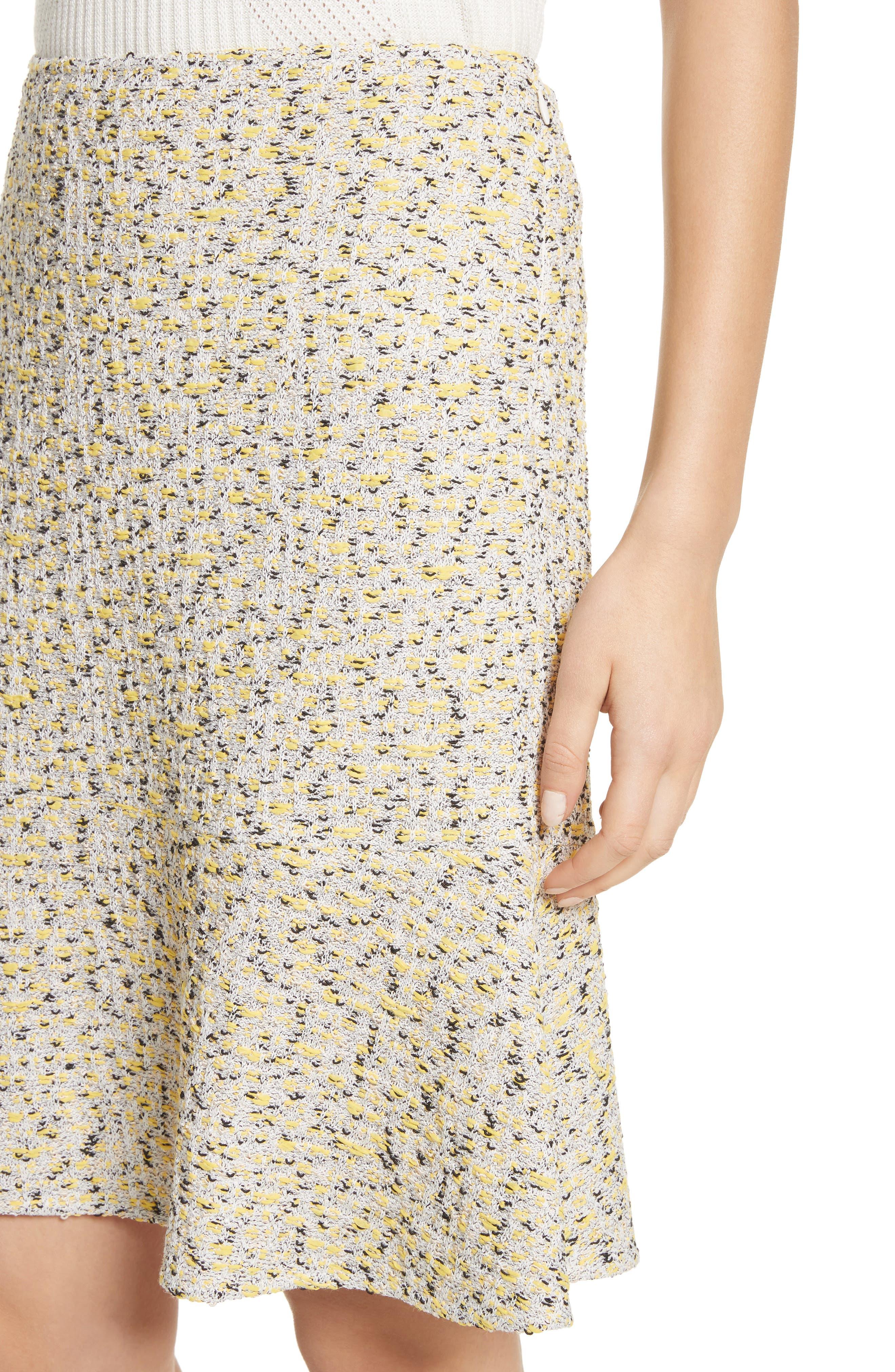 Romee Tweed Fit & Flare Skirt,                             Alternate thumbnail 4, color,                             730