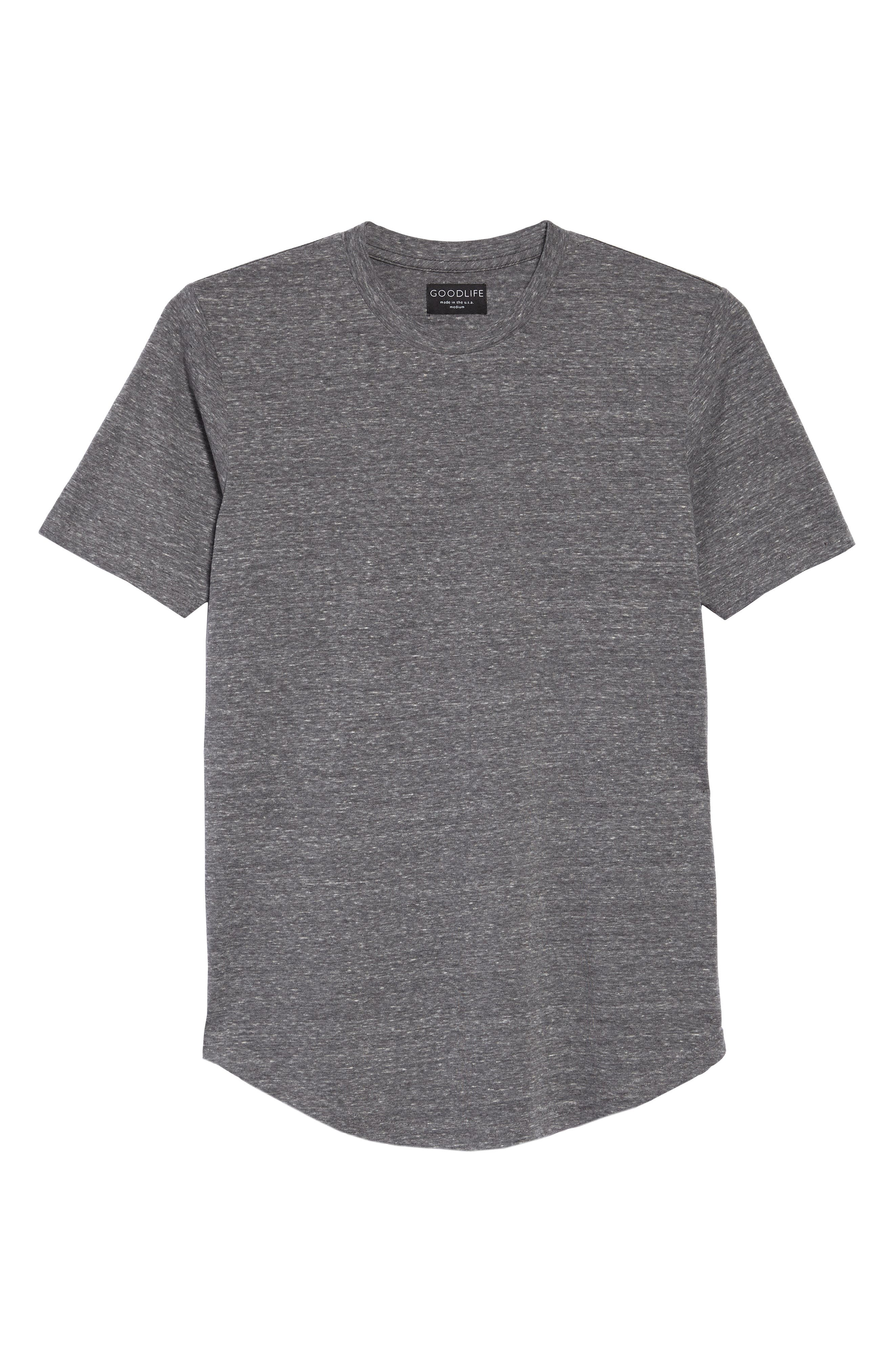 Triblend Scallop Crewneck T-Shirt,                             Alternate thumbnail 2, color,                             HEATHER GREY