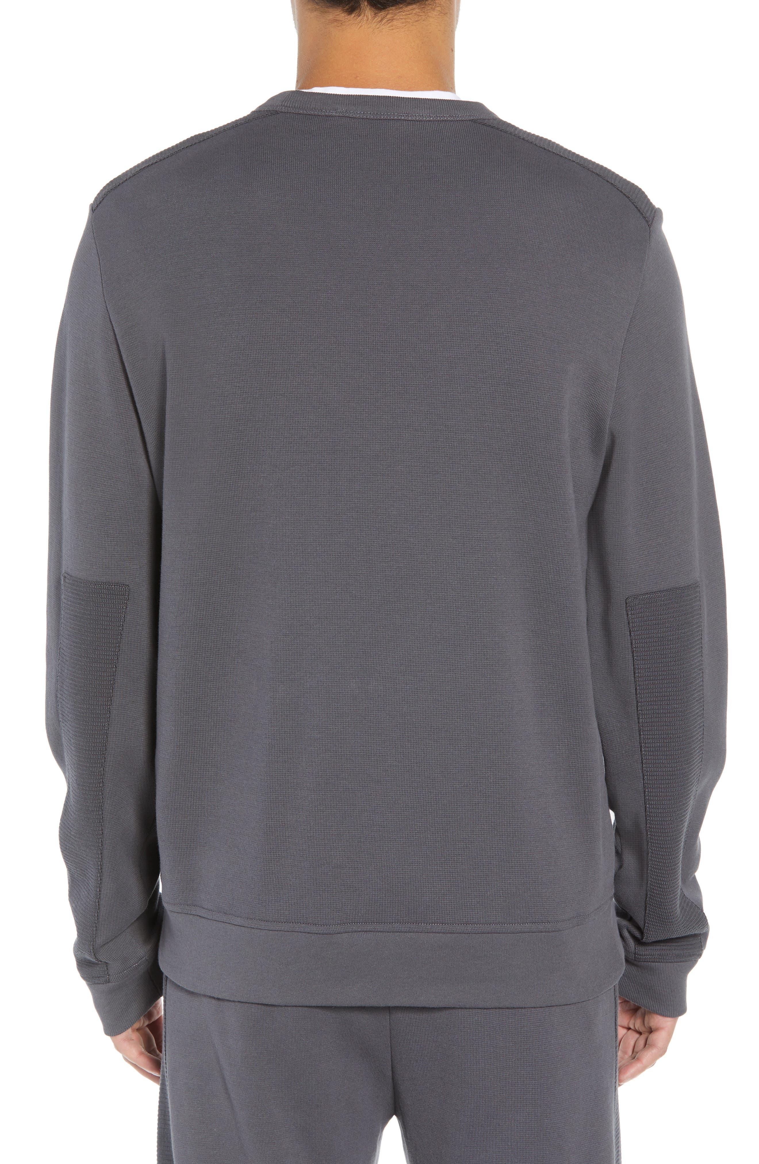Ottoman Stitch Sweatshirt,                             Alternate thumbnail 2, color,                             SLATE
