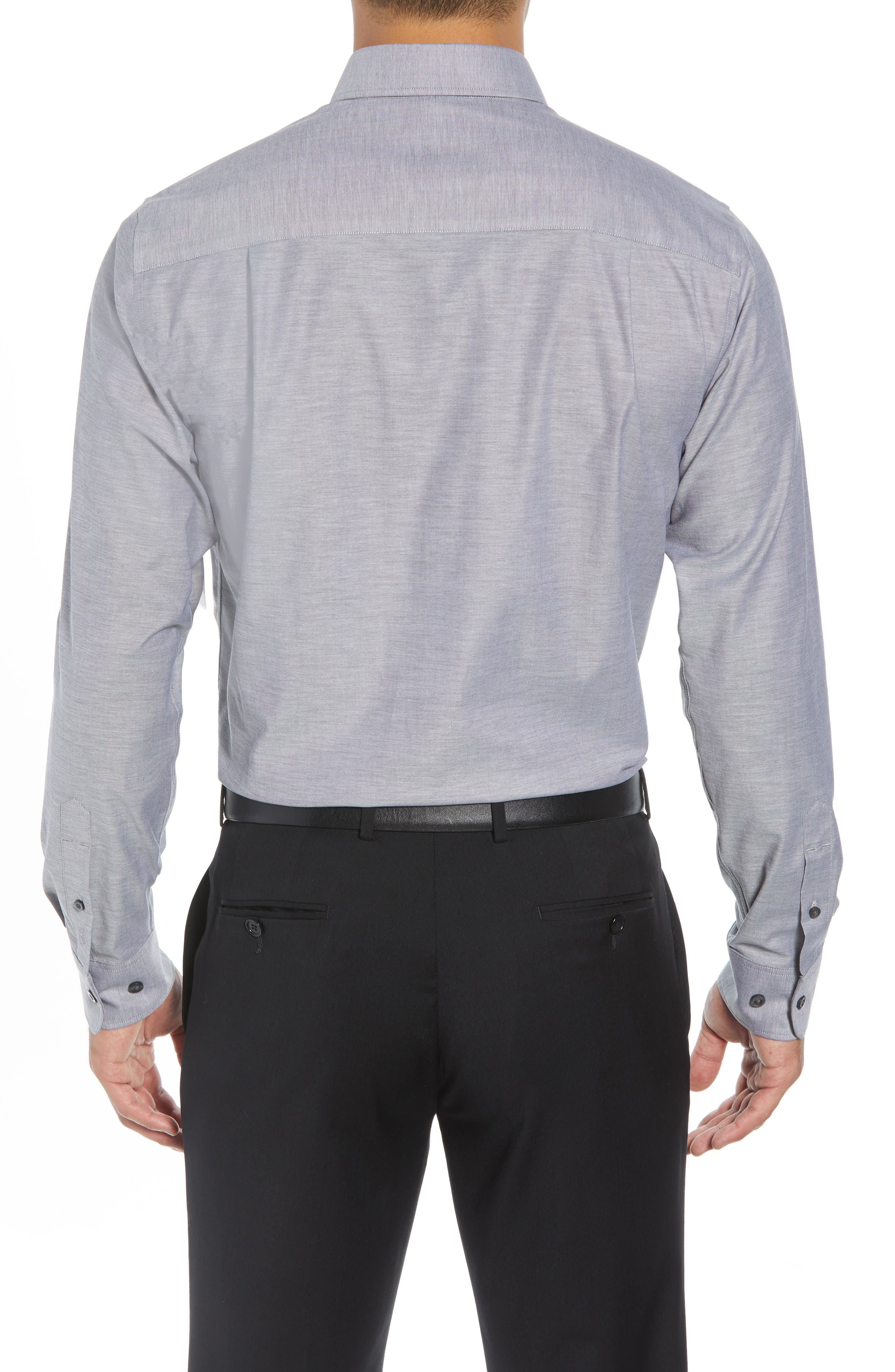 Tailor Regular Fit Oxford Sport Shirt,                             Alternate thumbnail 3, color,                             CHARCOAL 2