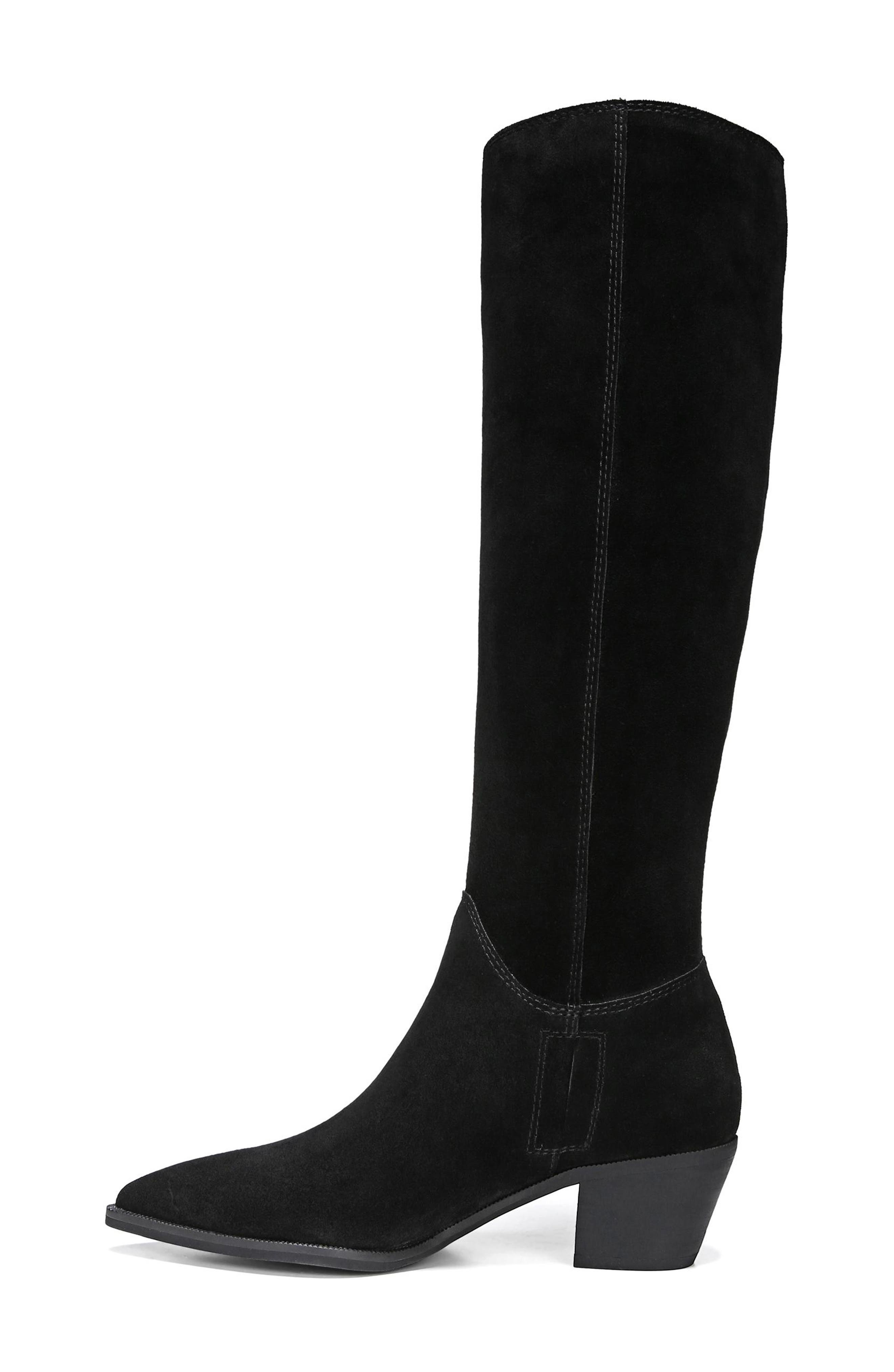 Rowena Knee High Boot,                             Alternate thumbnail 8, color,                             BLACK SUEDE