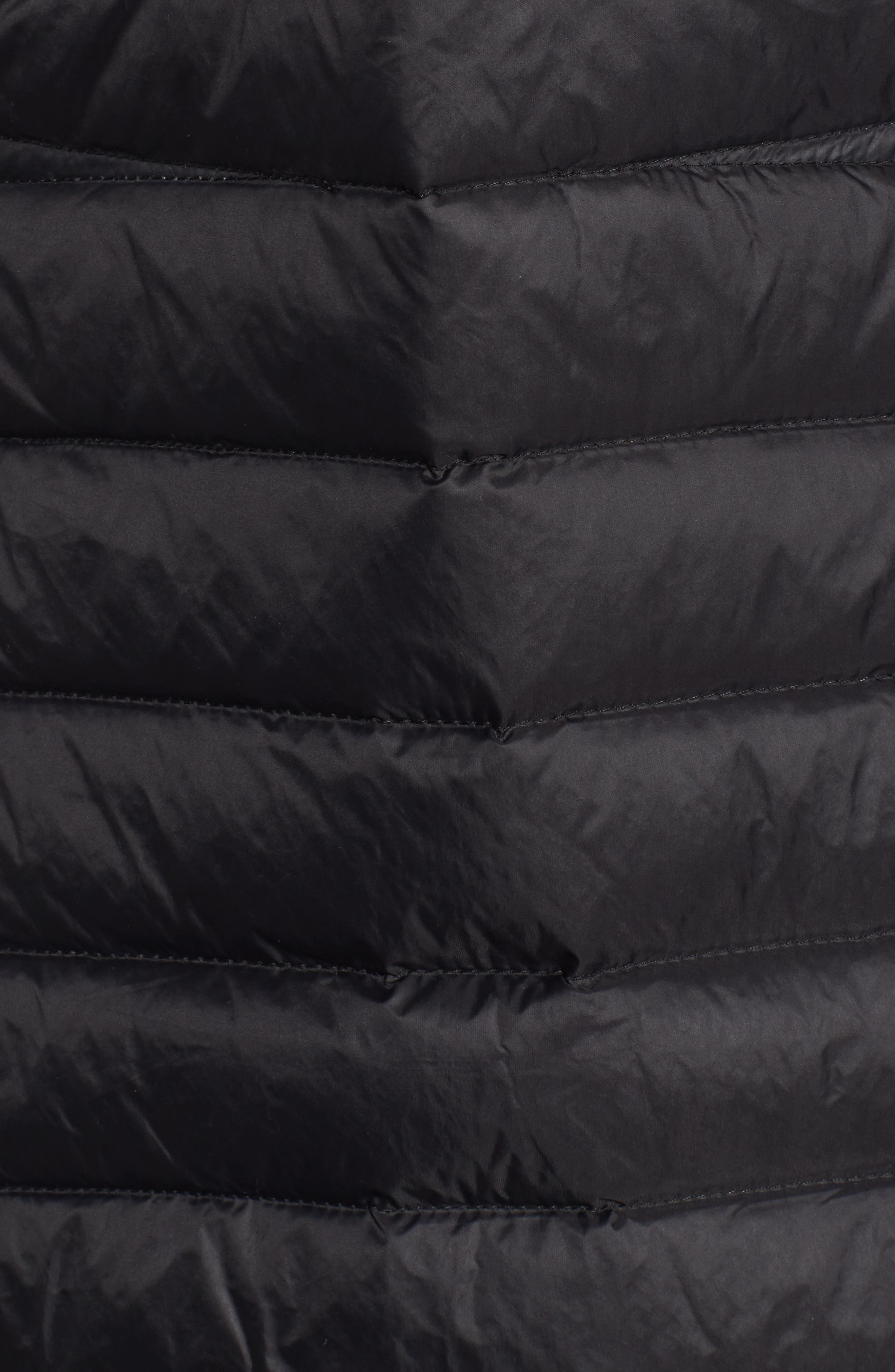 Hooded Down Coat,                             Alternate thumbnail 6, color,                             001