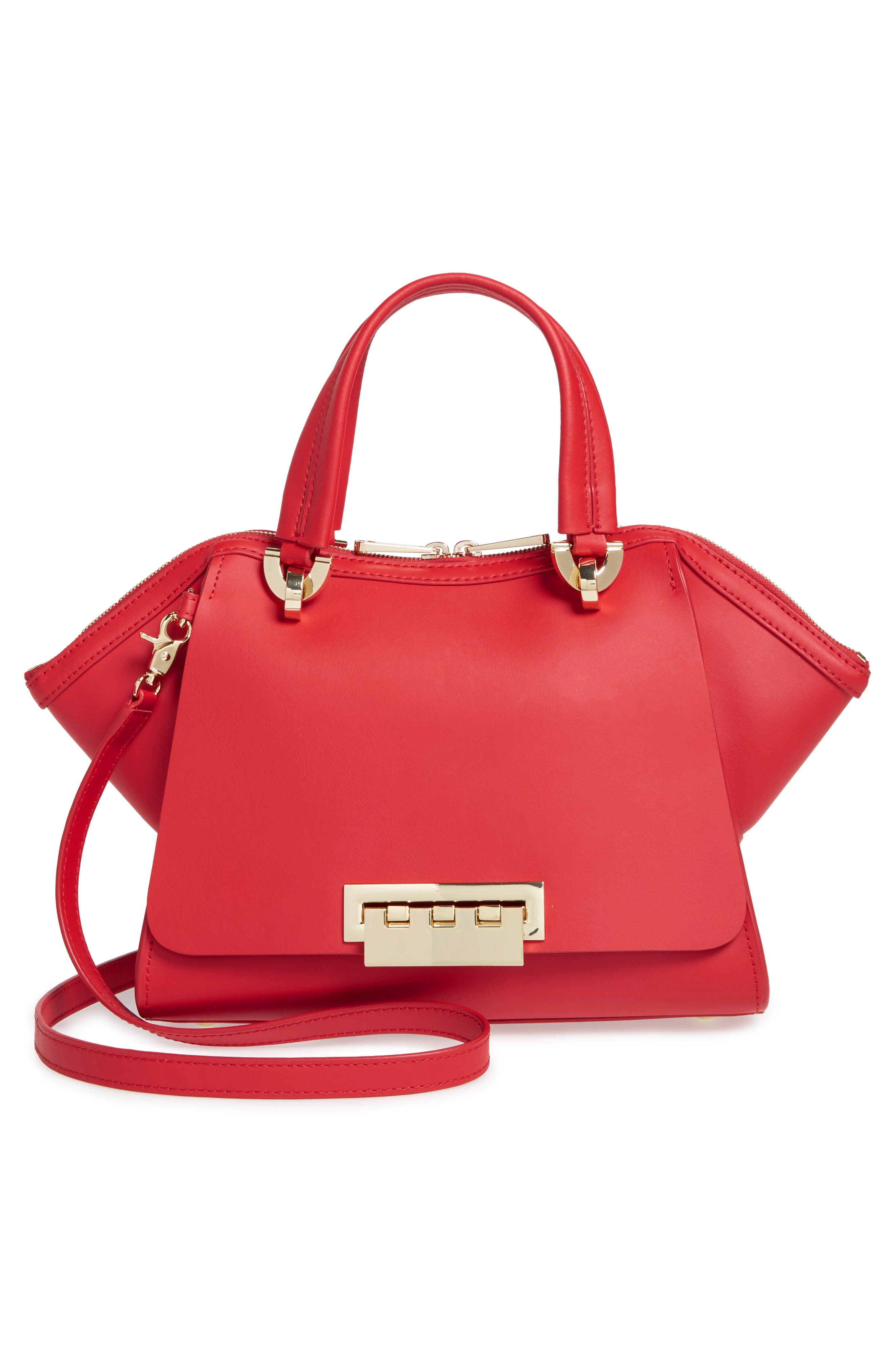 Eartha Iconic Calfskin Leather Double Handle Satchel,                             Alternate thumbnail 13, color,