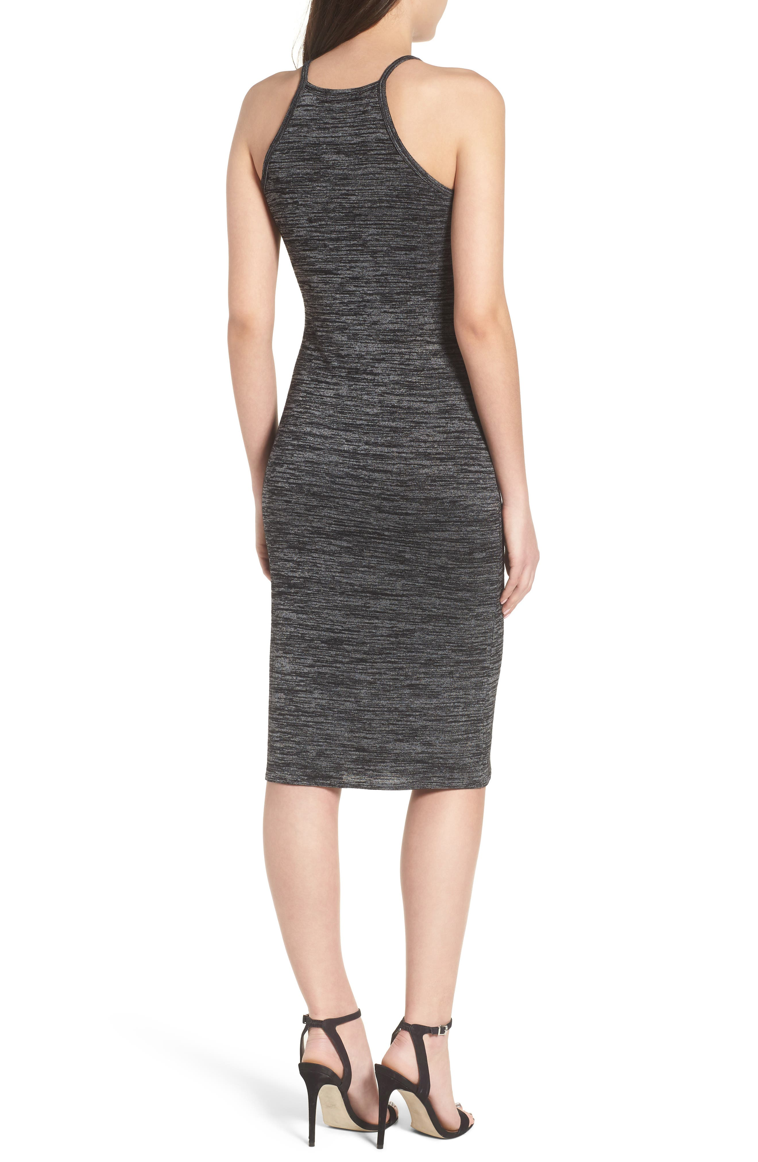Mélange Body-Con Dress,                             Alternate thumbnail 2, color,                             021