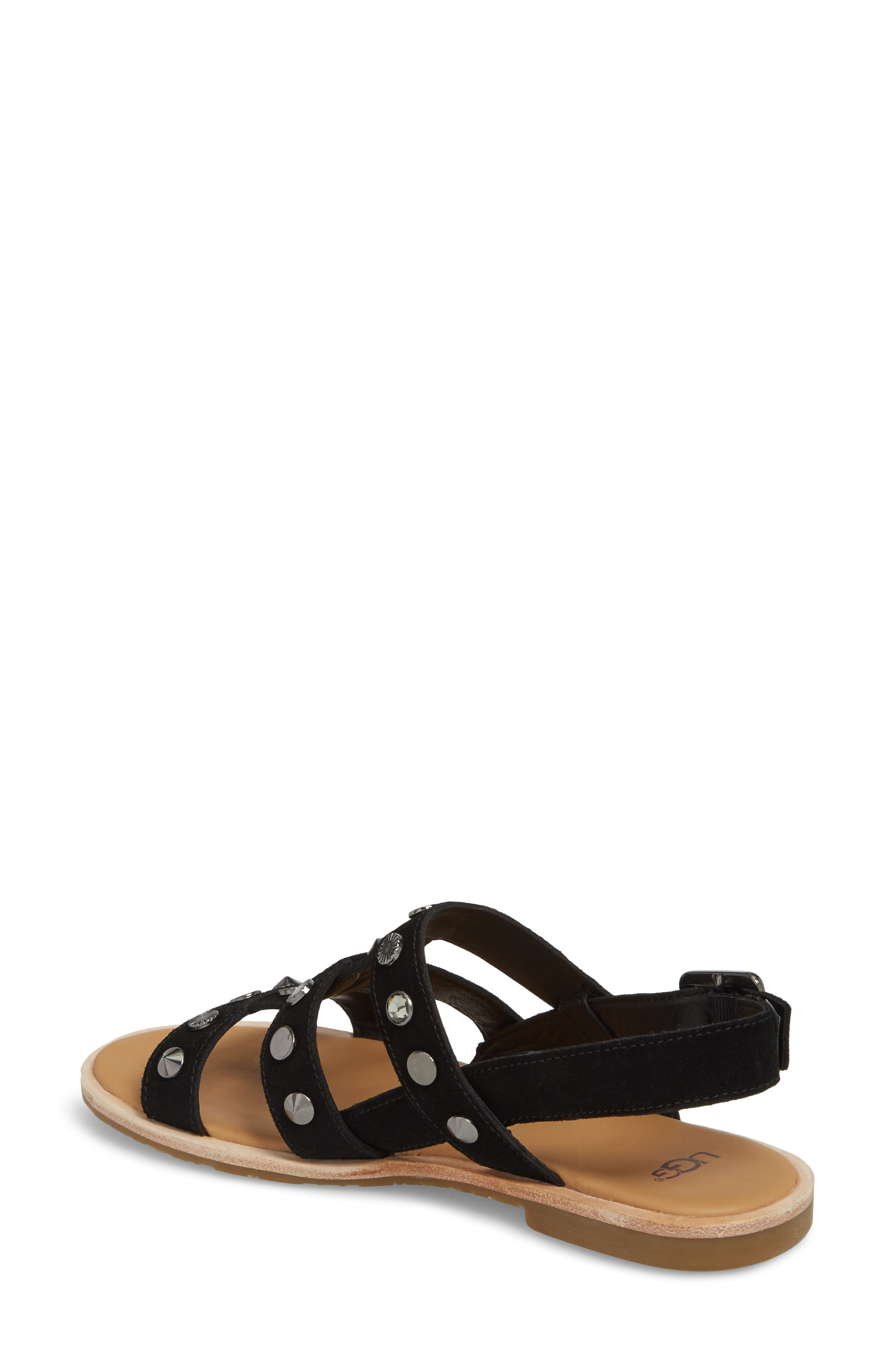 Zariah Studded Sandal,                             Alternate thumbnail 2, color,                             001