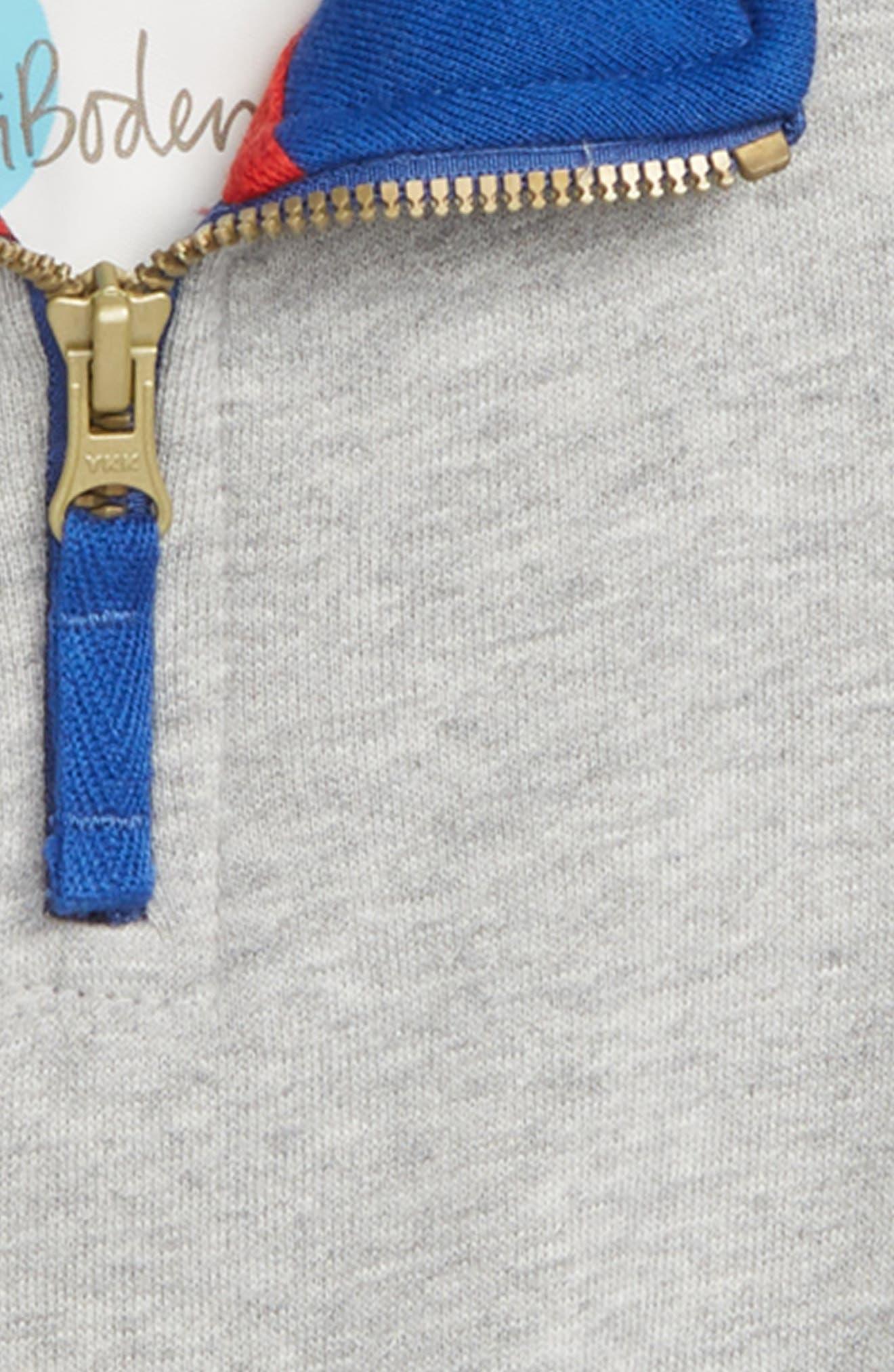 Half Zip Pullover,                             Alternate thumbnail 2, color,                             GREY MARL JASPE