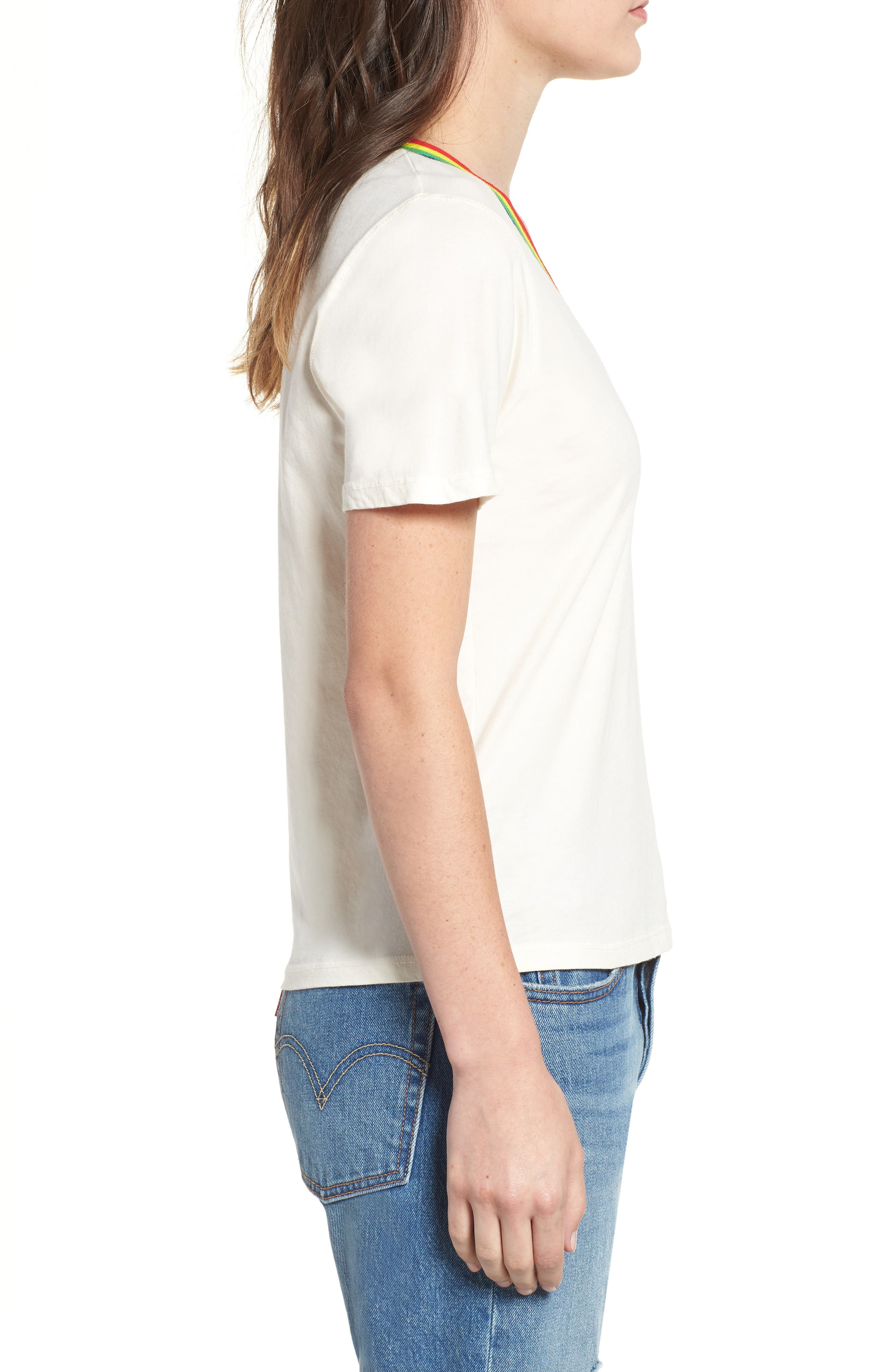 Over the Rainbow Tee,                             Alternate thumbnail 3, color,                             IVORY