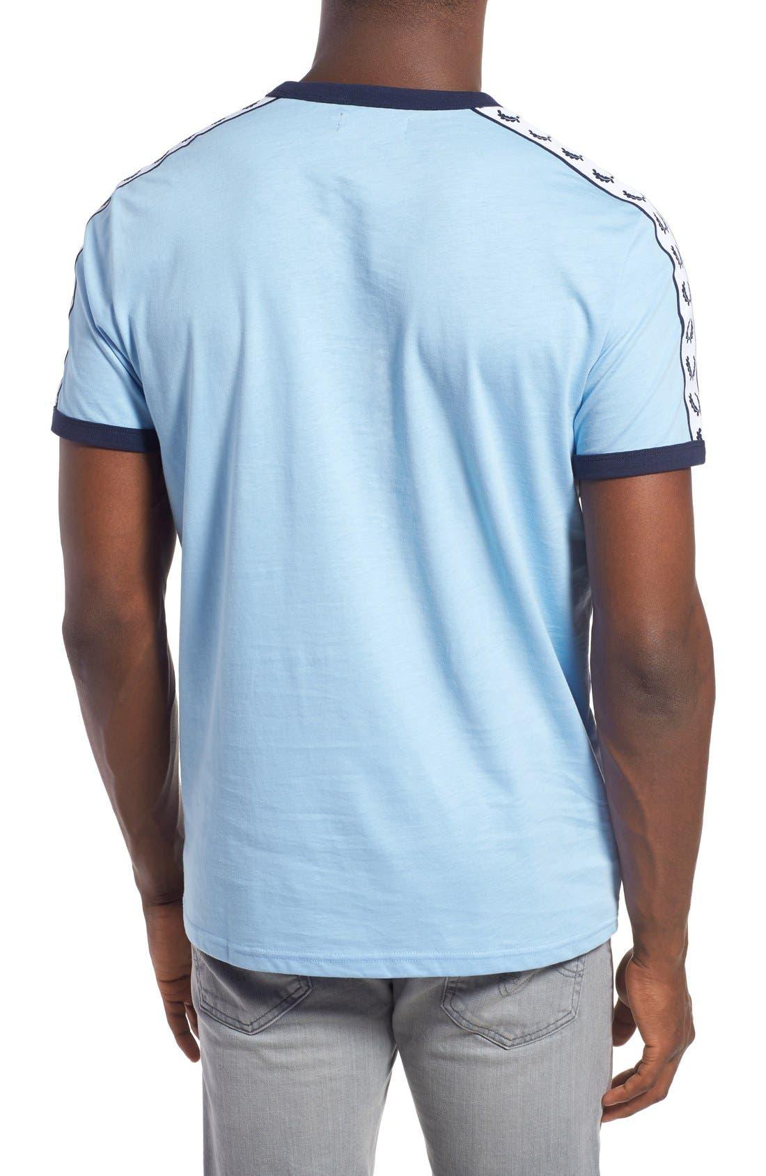 Extra Trim Fit Cotton Ringer T-Shirt,                             Alternate thumbnail 14, color,