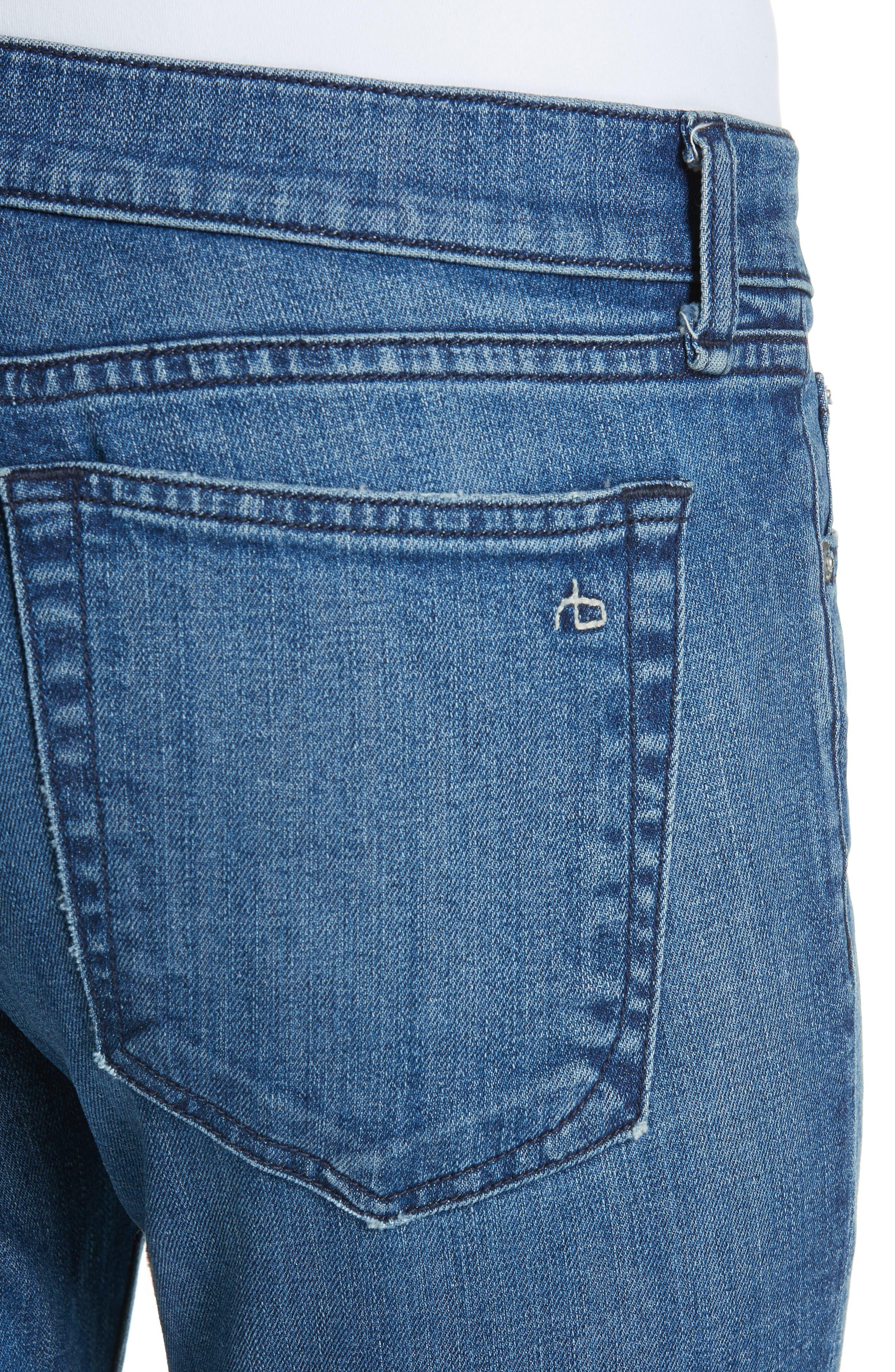 The Dre Crop Fray Hem Slim Fit Boyfriend Jeans,                             Alternate thumbnail 4, color,                             LOVIE