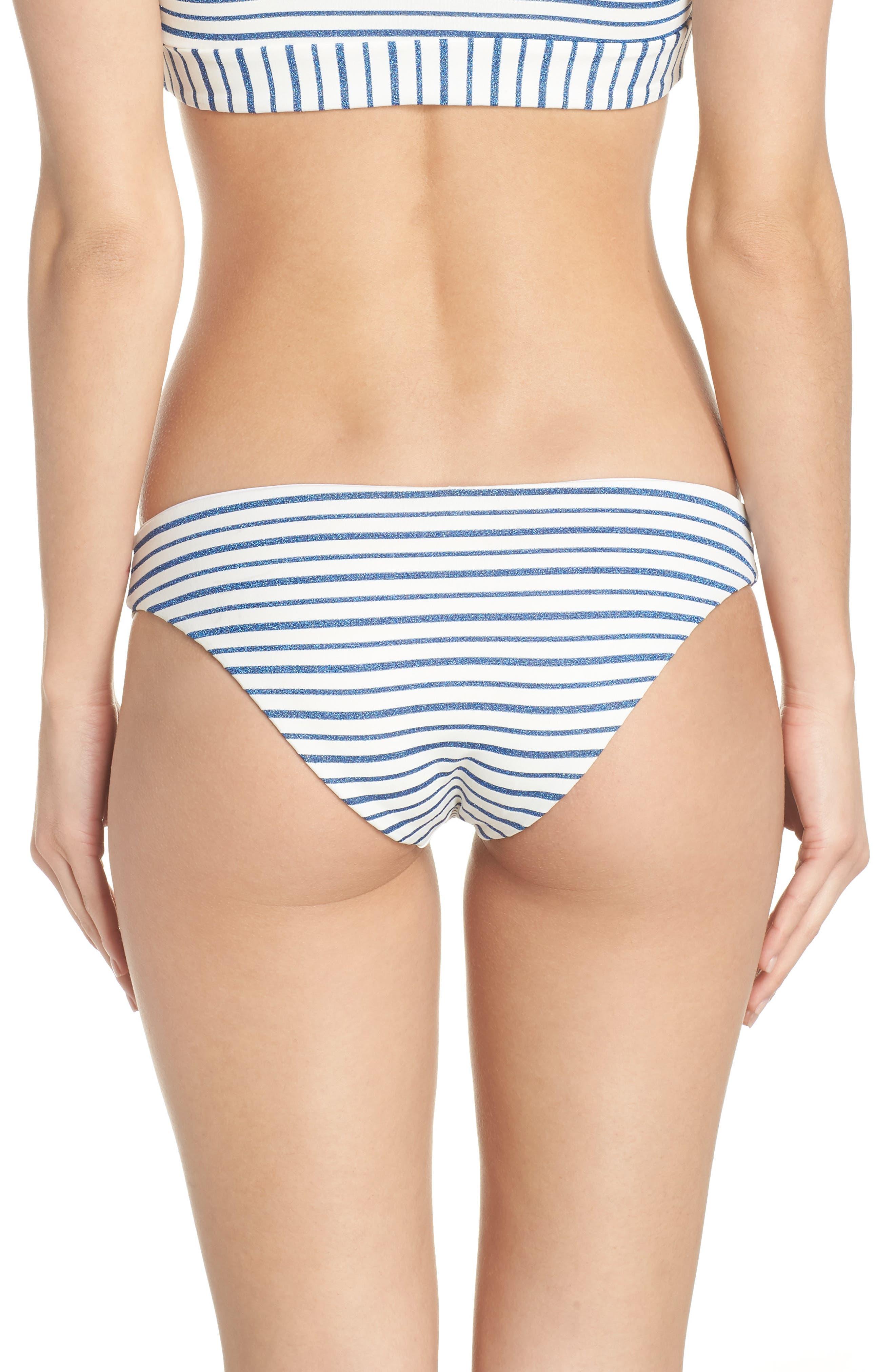 Sandy Stripe Bikini Bottoms,                             Alternate thumbnail 2, color,                             ROYAL