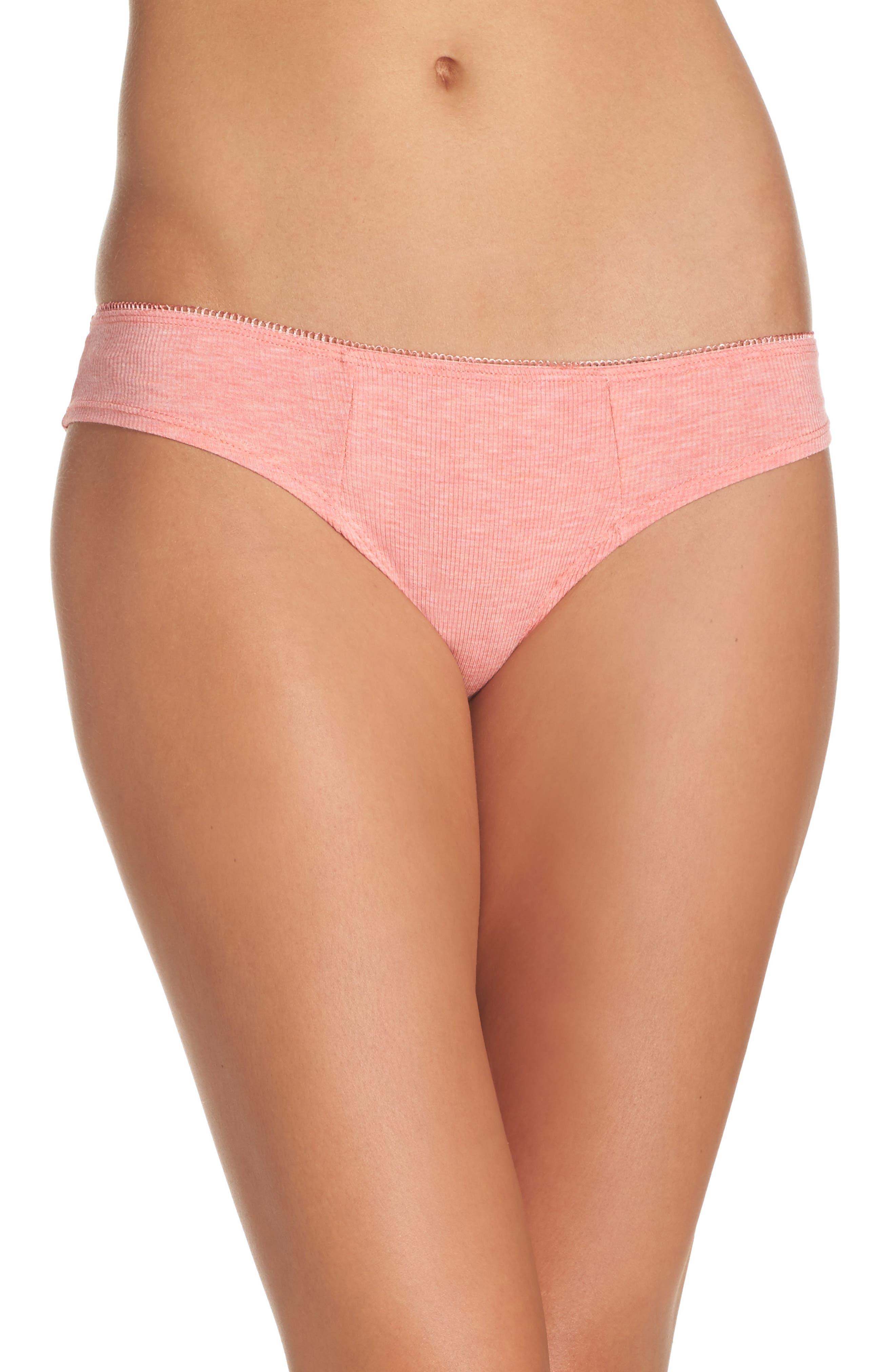 Rib Knit Bikini,                             Main thumbnail 4, color,