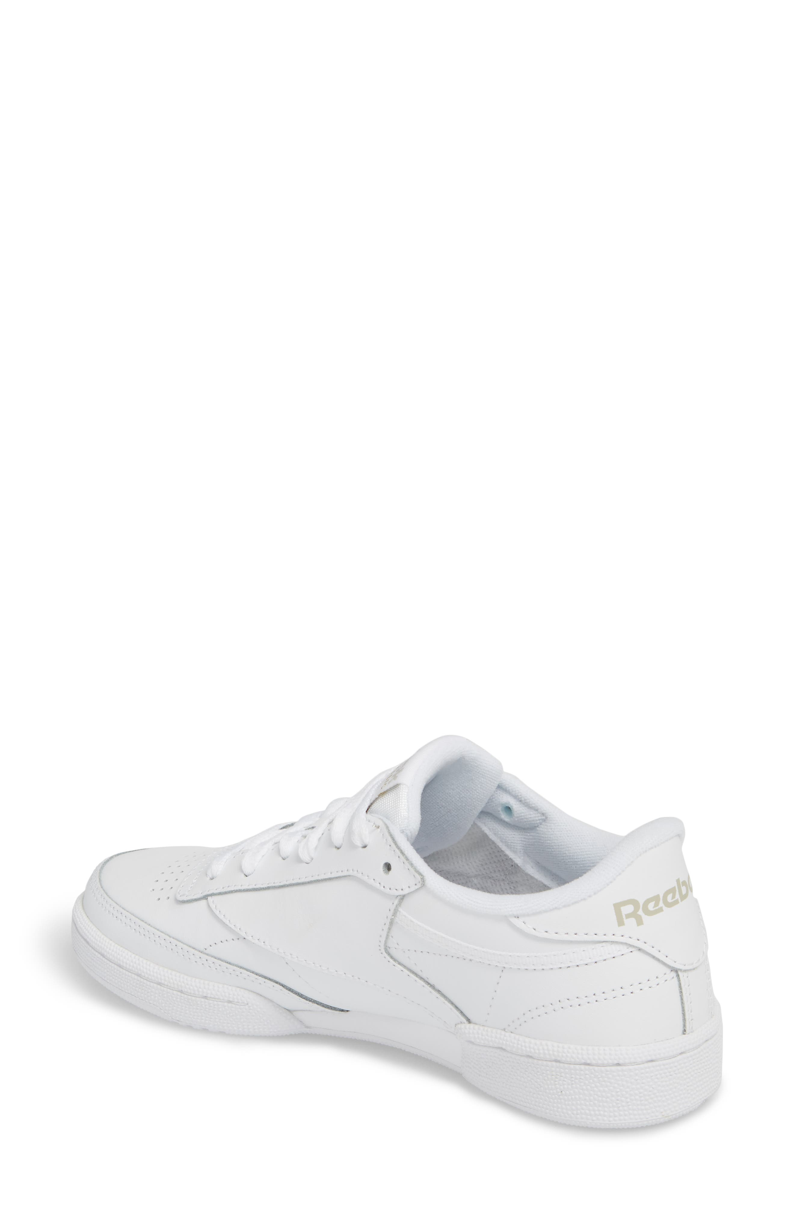 Club C 85 Sneaker,                             Alternate thumbnail 2, color,                             WHITE/ LIGHT GREY