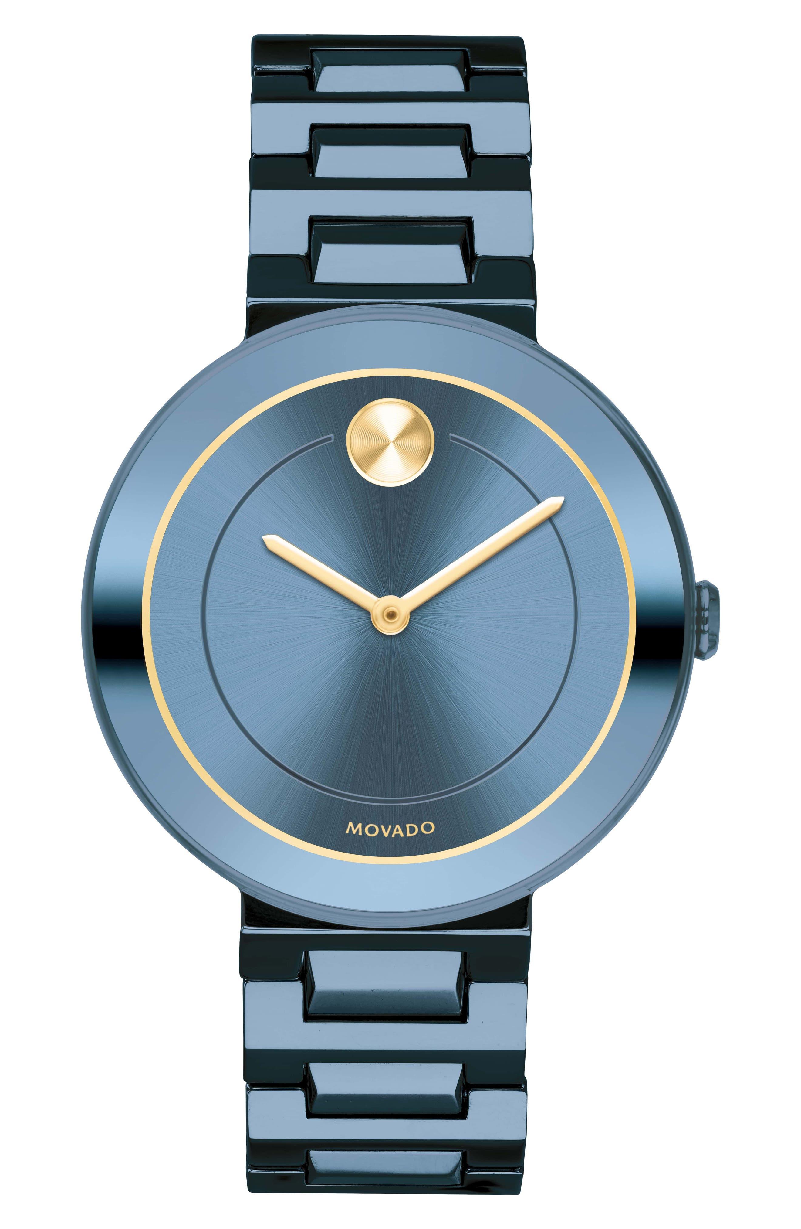 Bold Bracelet Watch, 34mm,                             Main thumbnail 1, color,                             BLUE