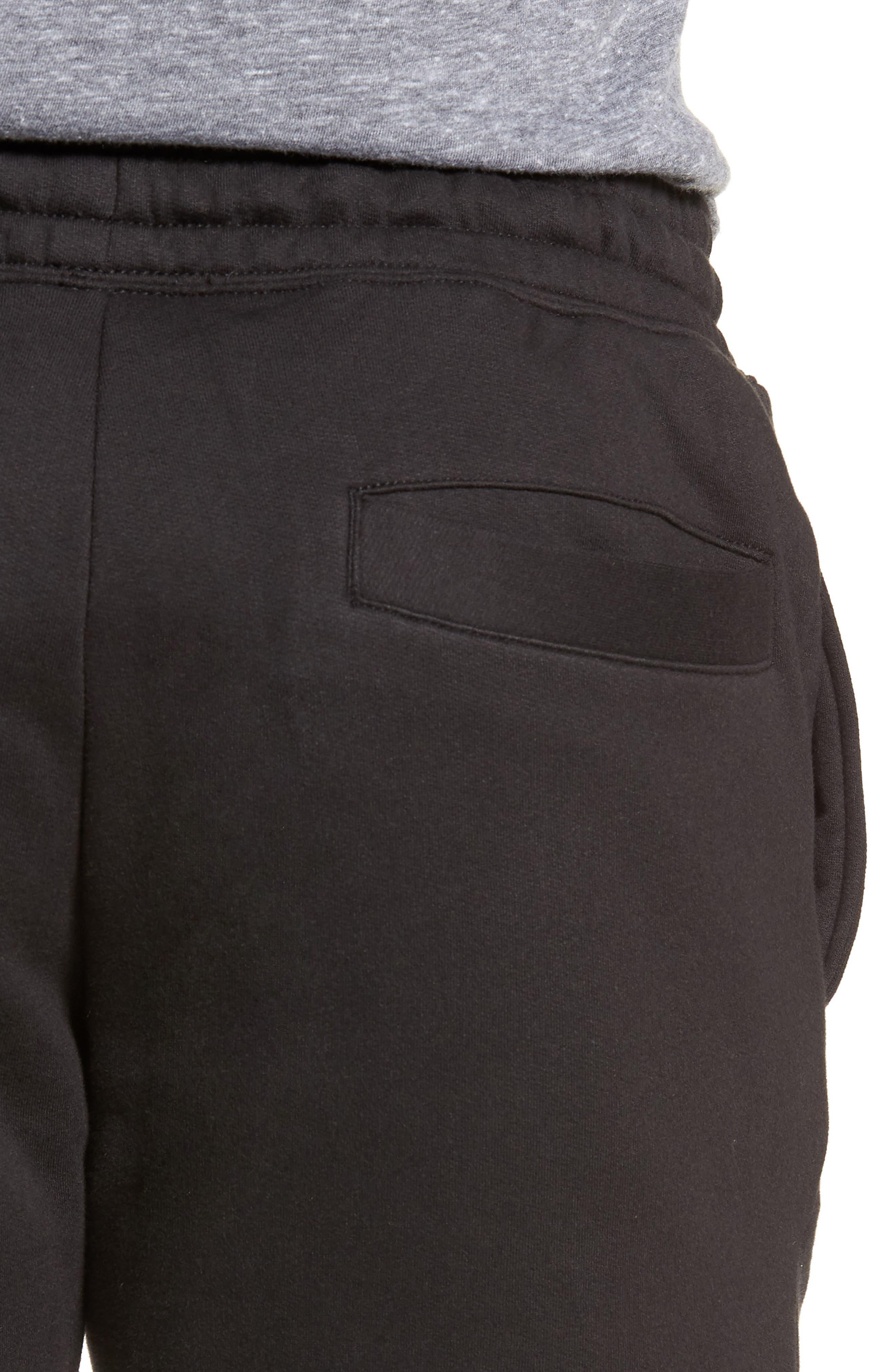 Slim Fit Logo Sweatpants,                             Alternate thumbnail 4, color,                             BLACK