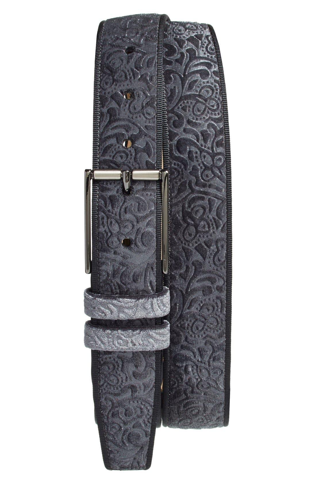 'Terciopelo' Velvet Belt, Main, color, 020
