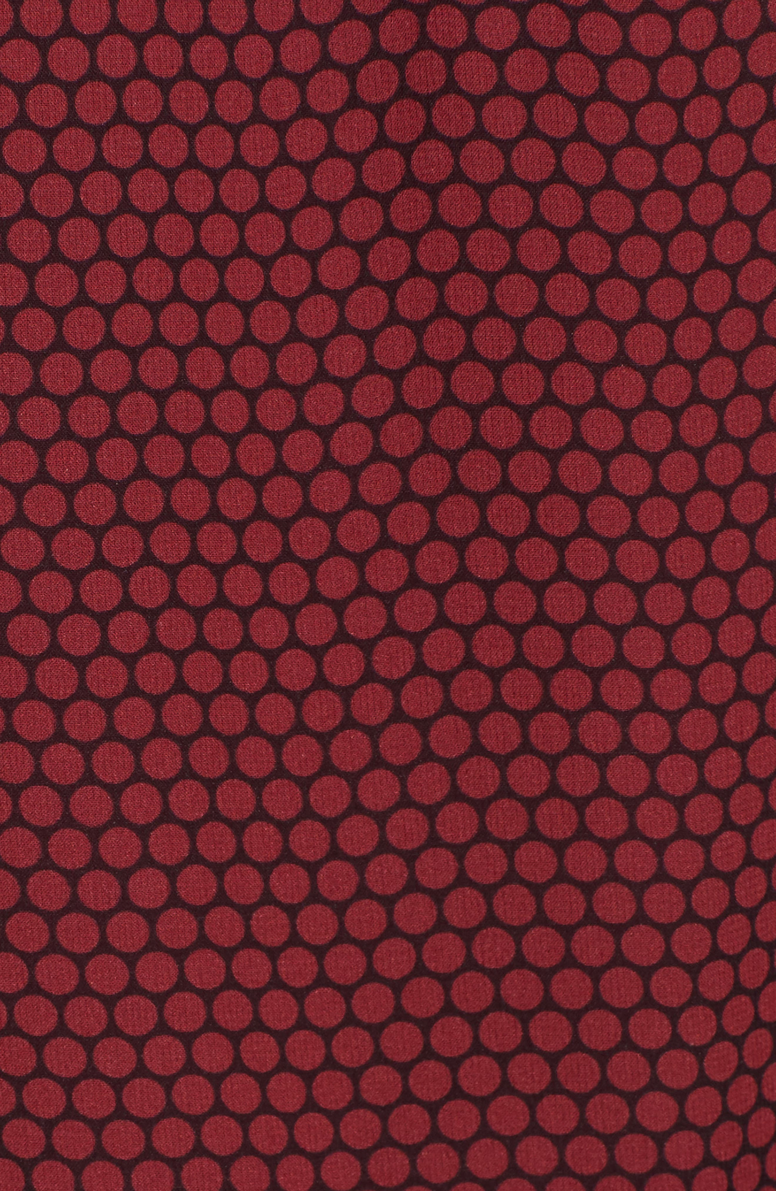 Dot Print Flounce Silk Dress,                             Alternate thumbnail 5, color,                             930